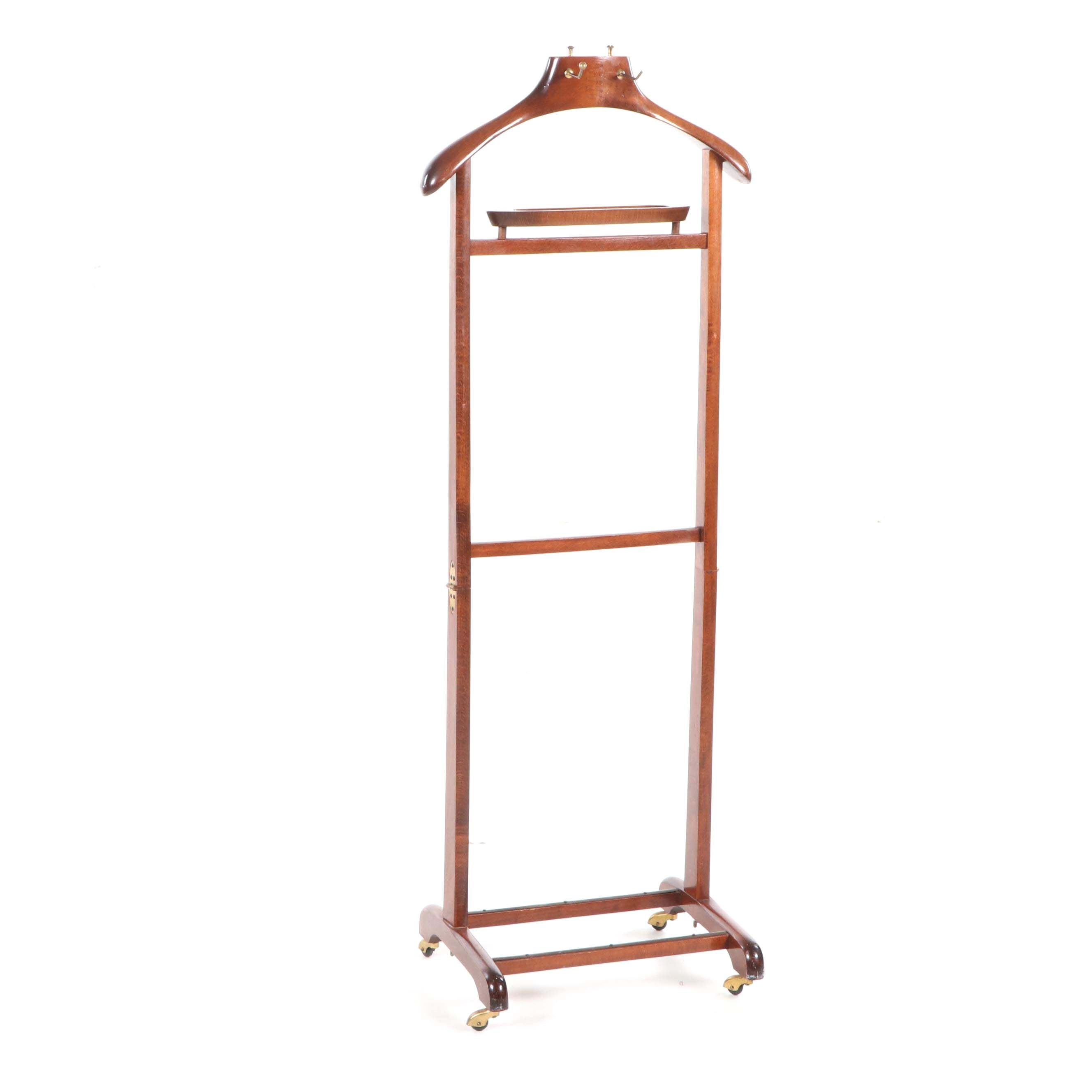 Walnut Valet Stand by SPQR, Late 20th Century