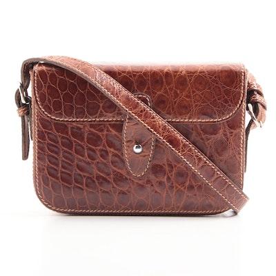 45f024dc27d Vintage Gucci Alligator Convertible Crossbody   Belt Bag