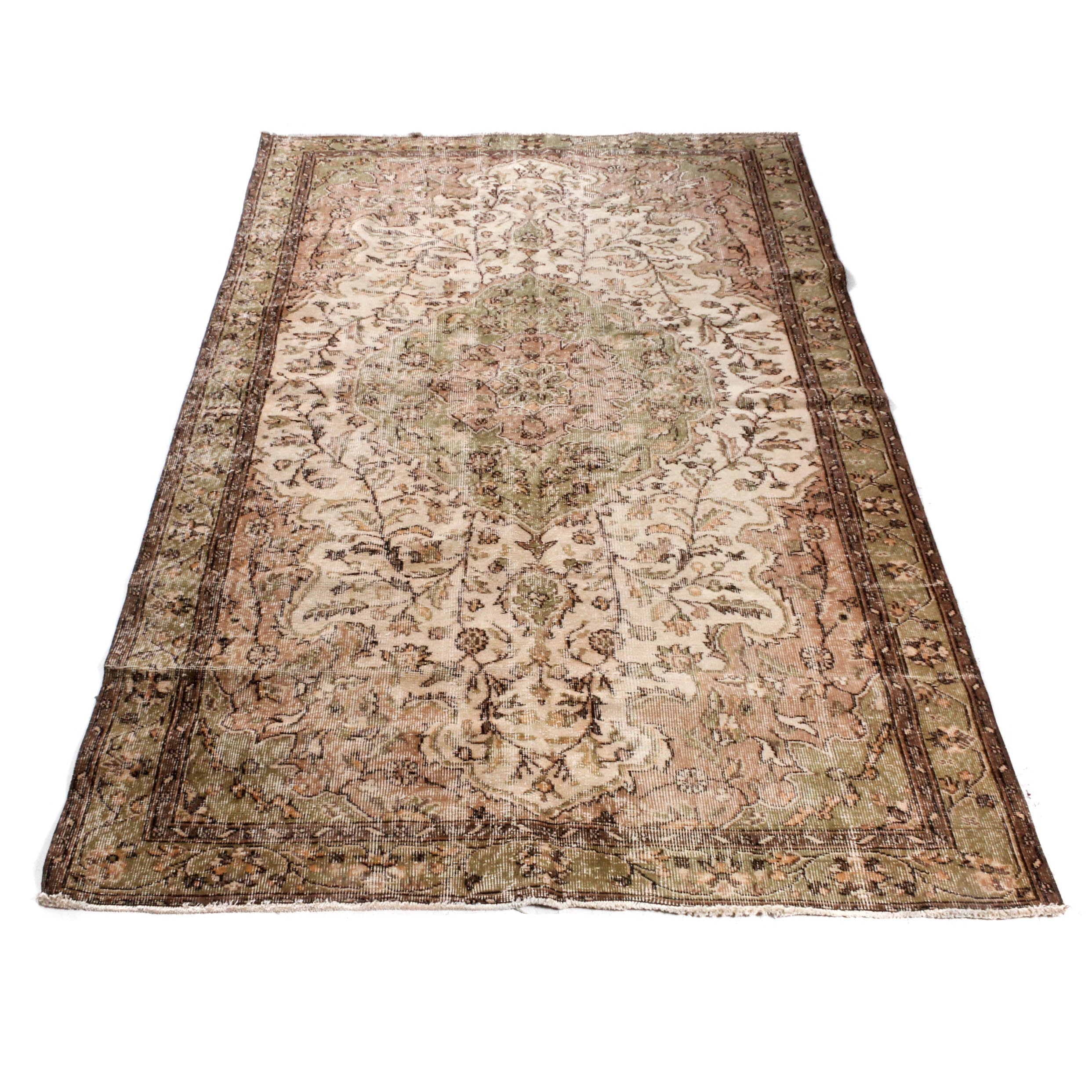 Hand-Knotted Turkish Antayla Rug