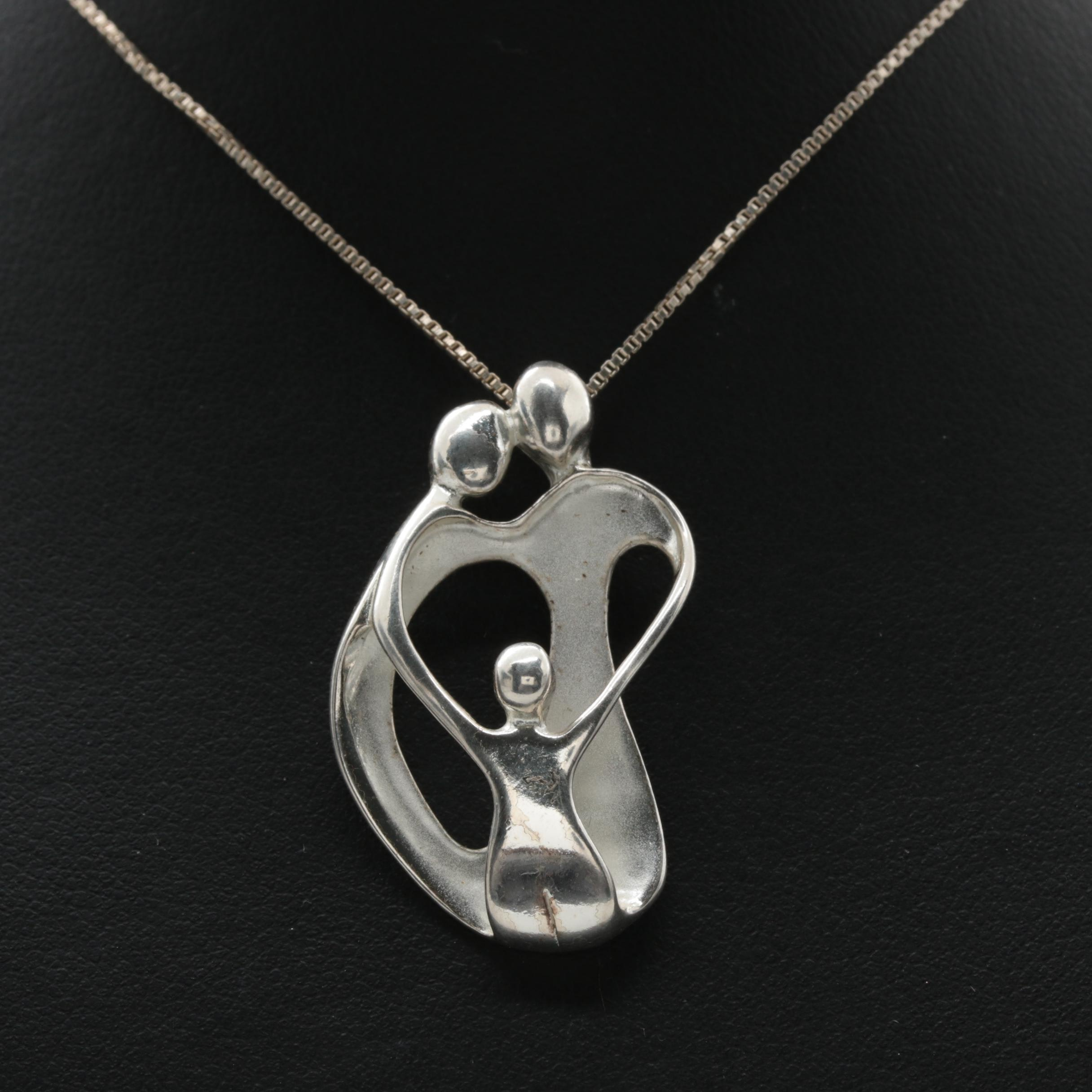 Carolyn Pollack Sterling Silver Necklace