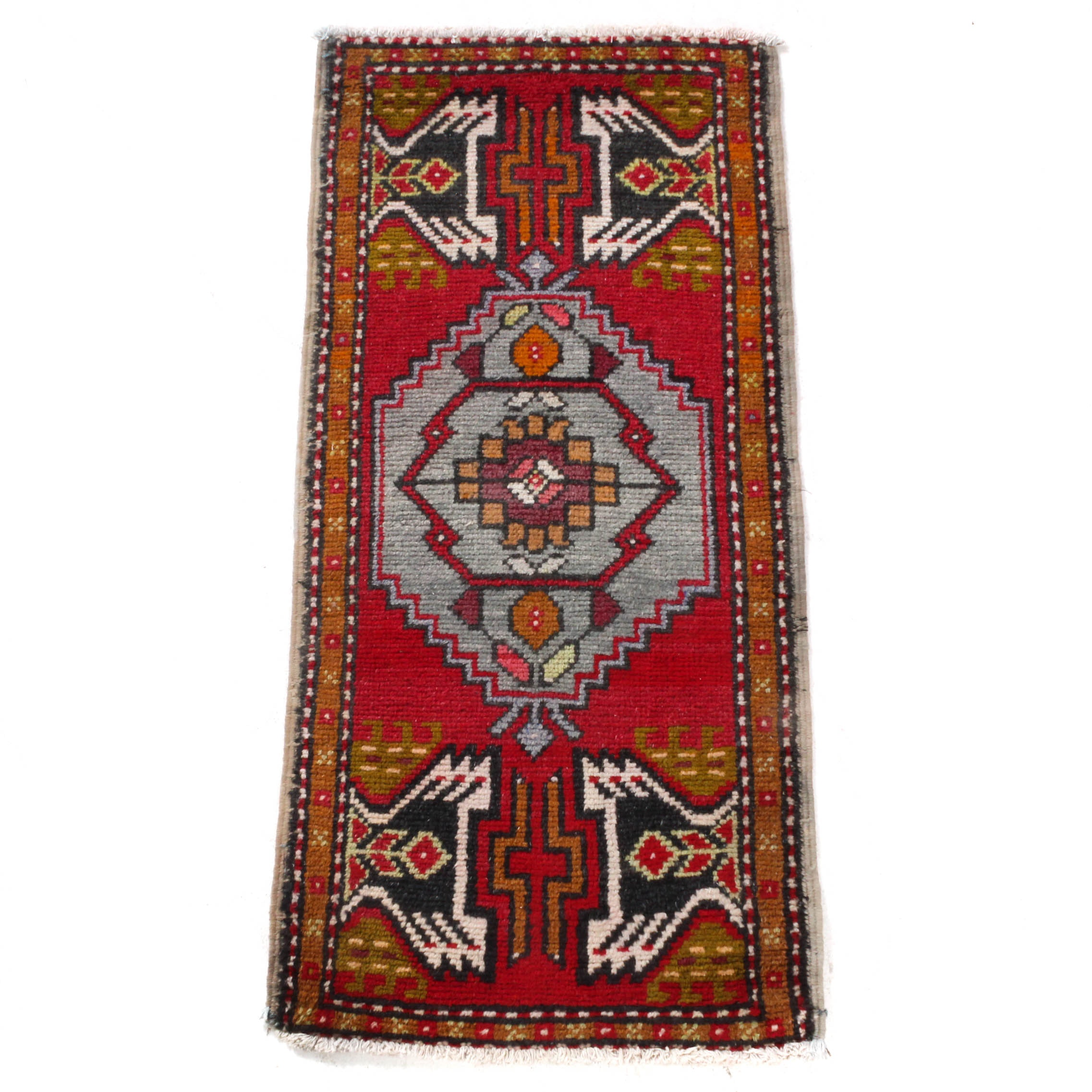 Antique Hand-Knotted Turkish Village Rug