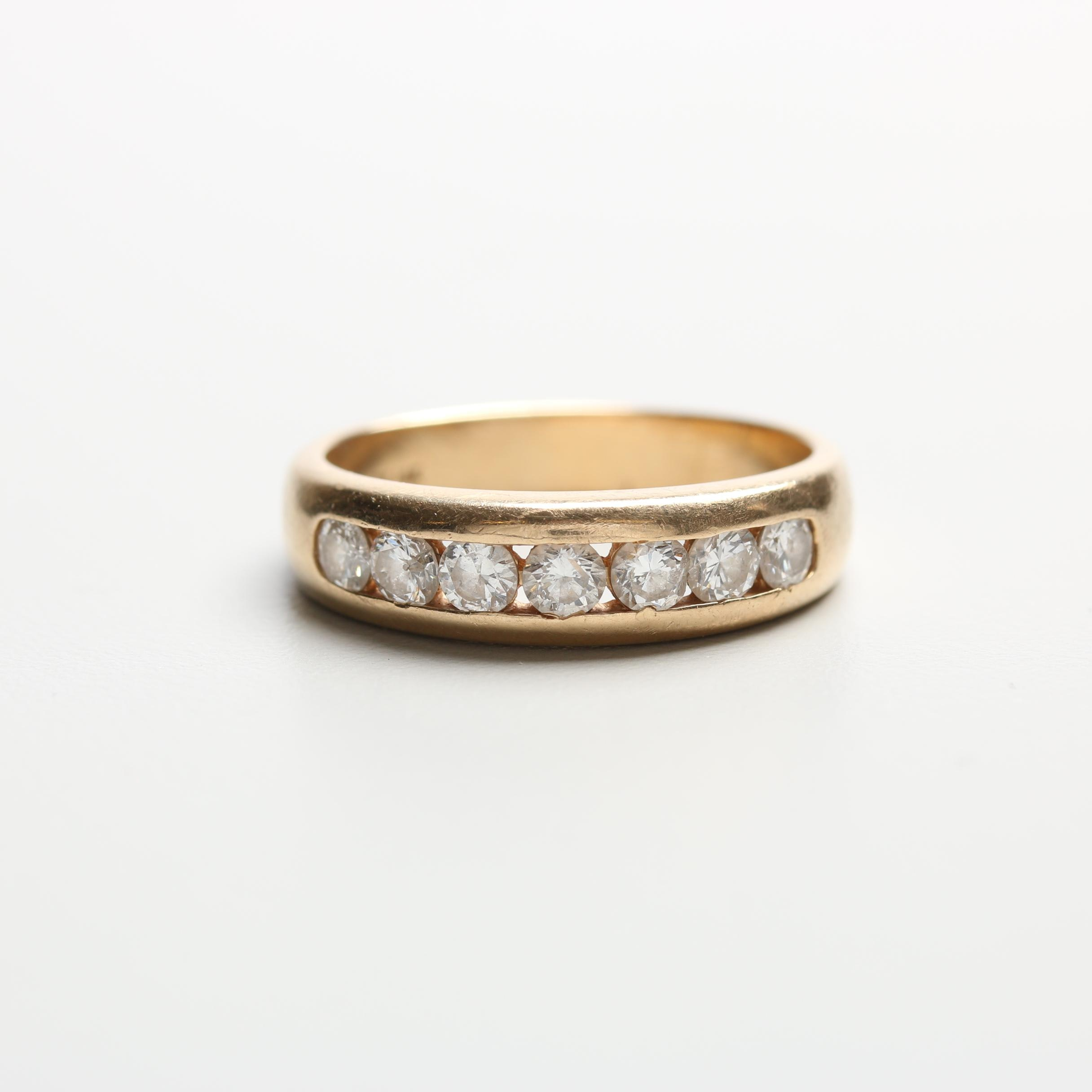 14K Yellow Gold 0.98 CTW Diamond Ring