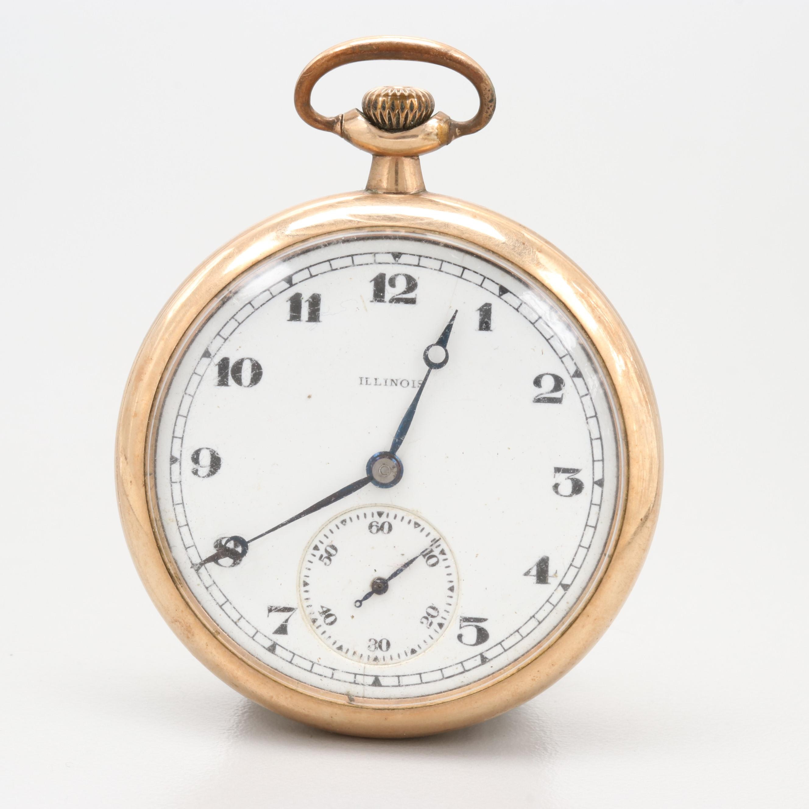 Illinois Gold Filled Pocket Watch 1919