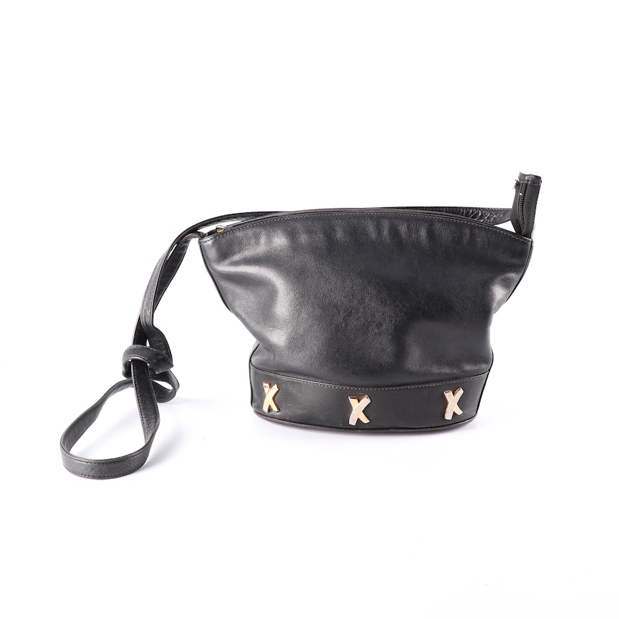 Paloma Picasso Black Leather Crossbody Bag