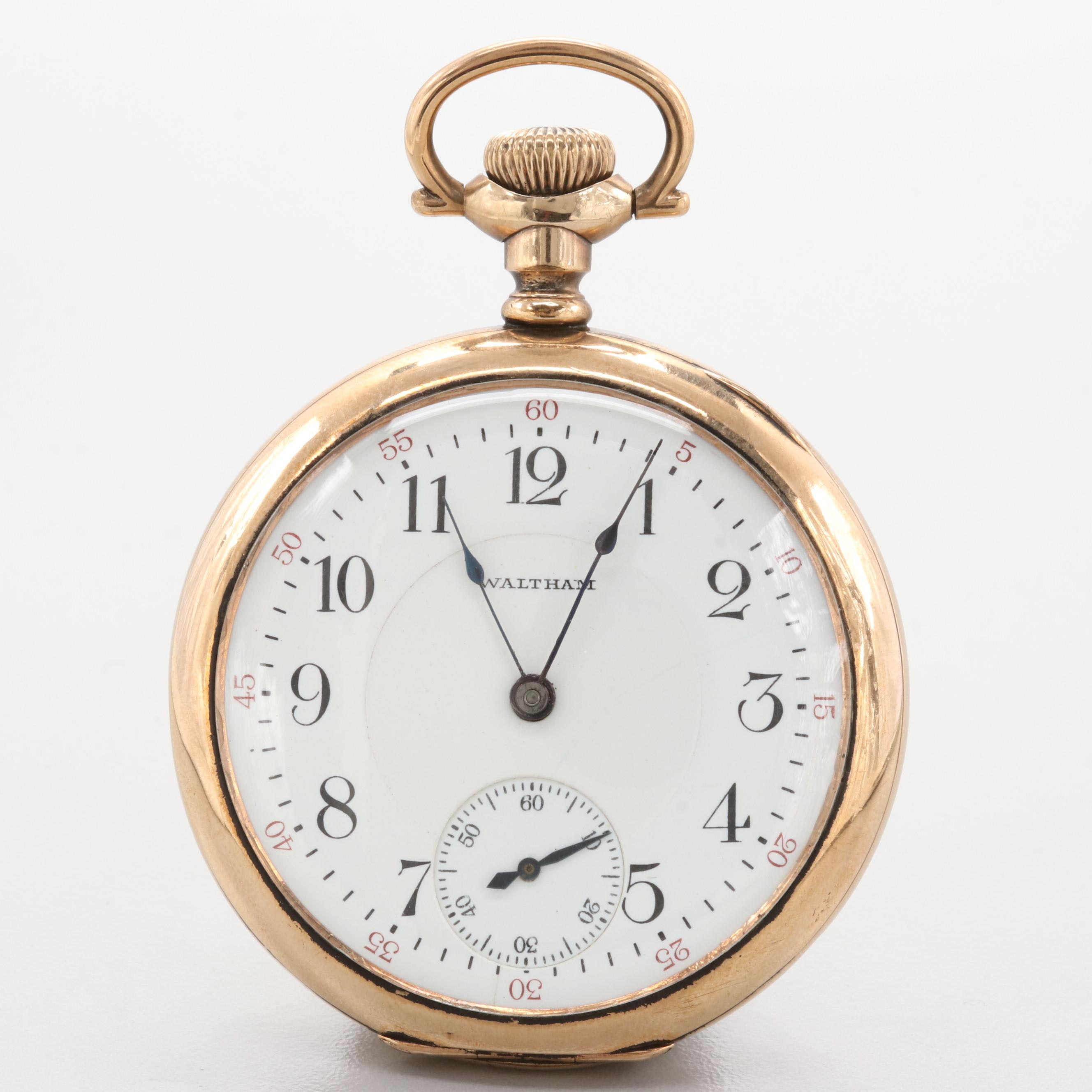 Waltham Gold Filled Pocket Watch 1914