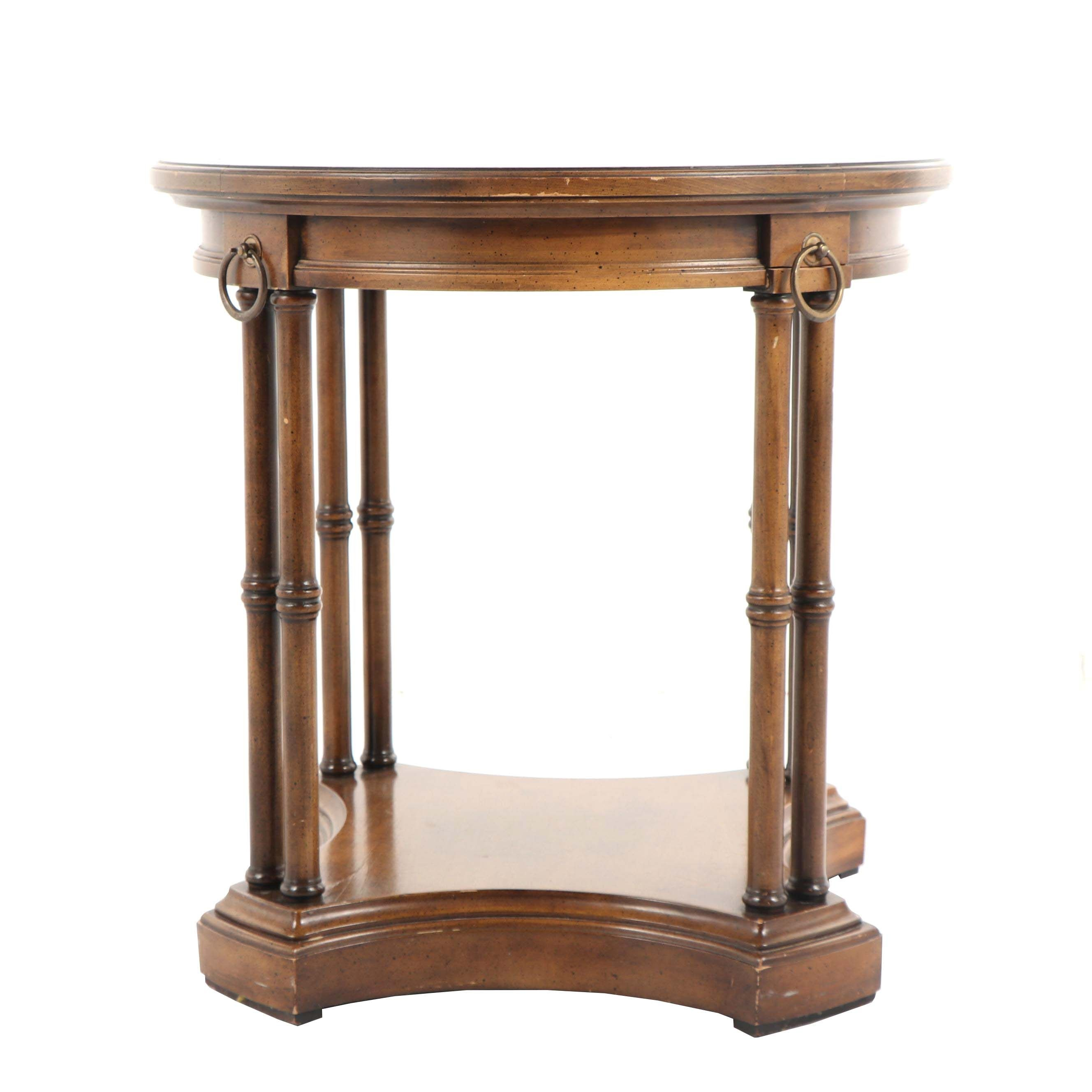 Neoclassical Style Walnut Occasional Table by Brandt, Late 20th Century