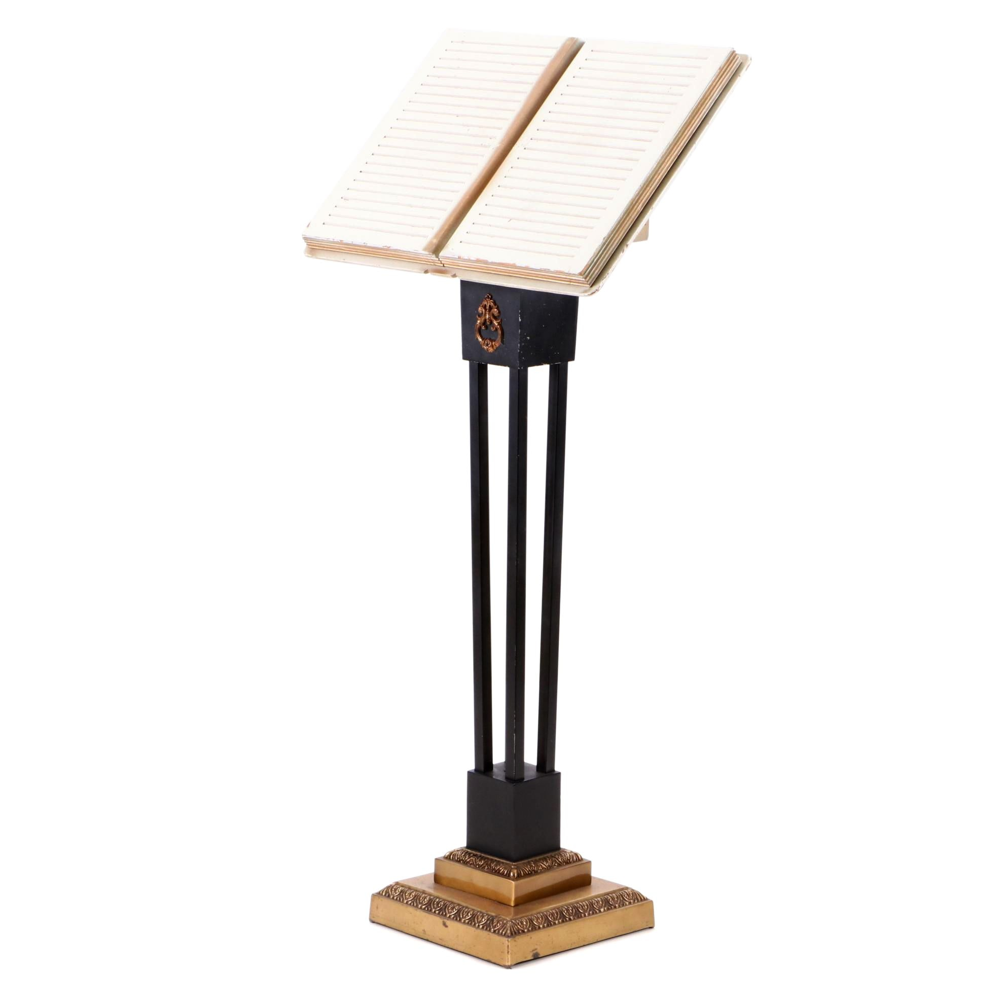 Neoclassical Style Metal Lectern by Superior Funeral Supply, Late 20th Century