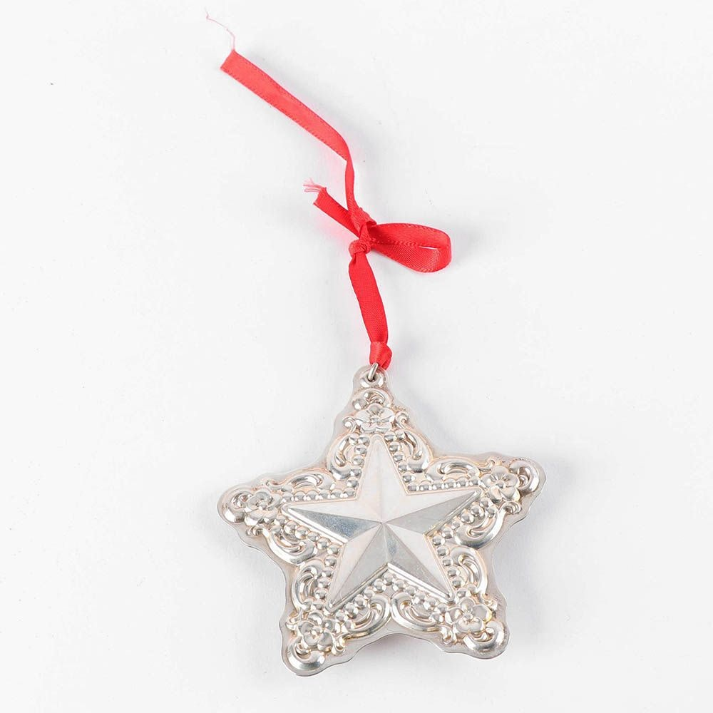 Towle Sterling Silver Star Christmas Ornament, Late 1990s