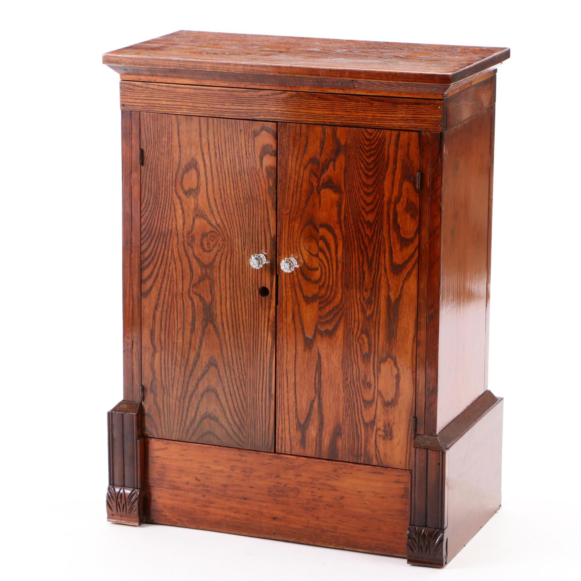 Late Victorian Oak Storage Cabinet, Mid/Late 19th Century