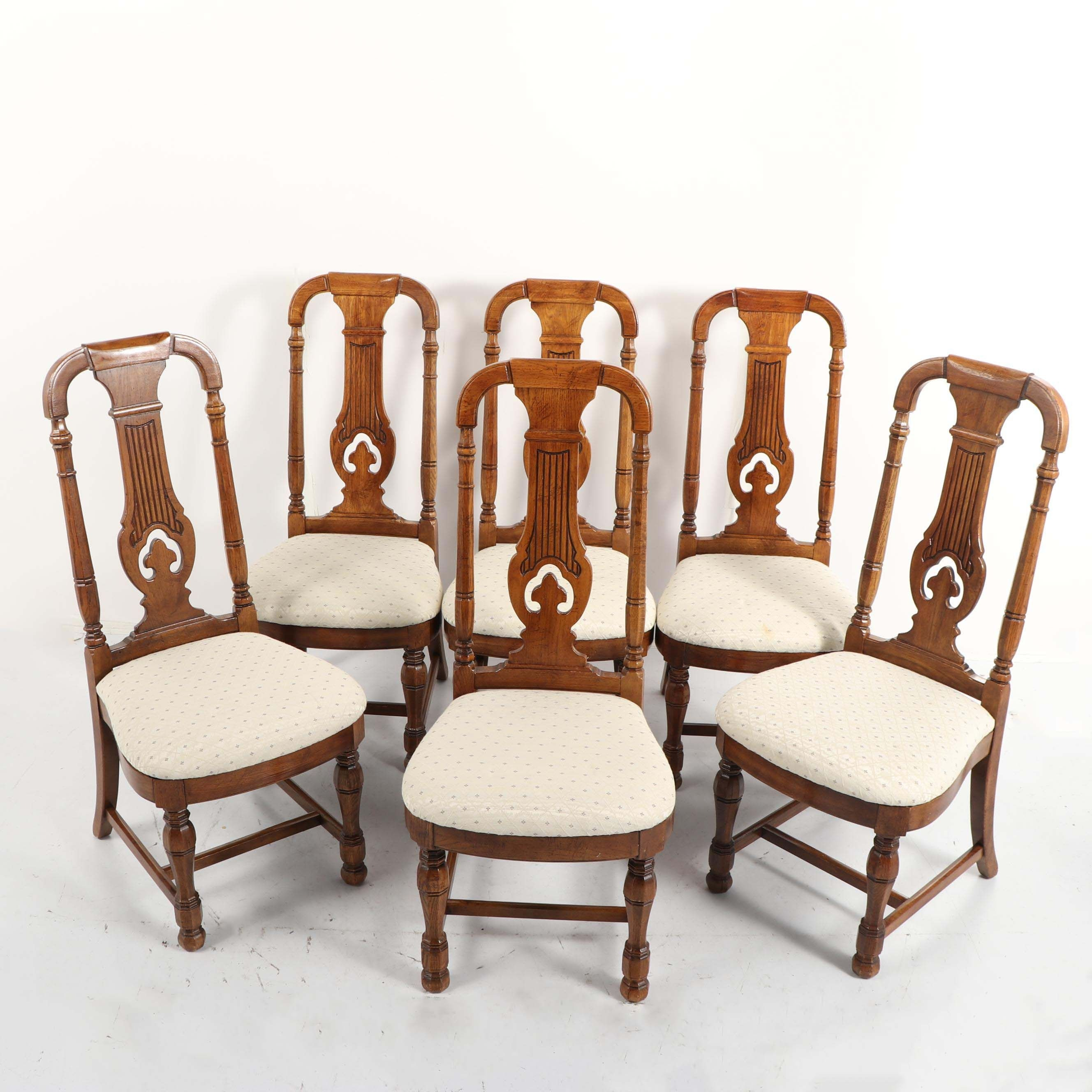 Group of Six French Oak Armchairs, Late 20th Century