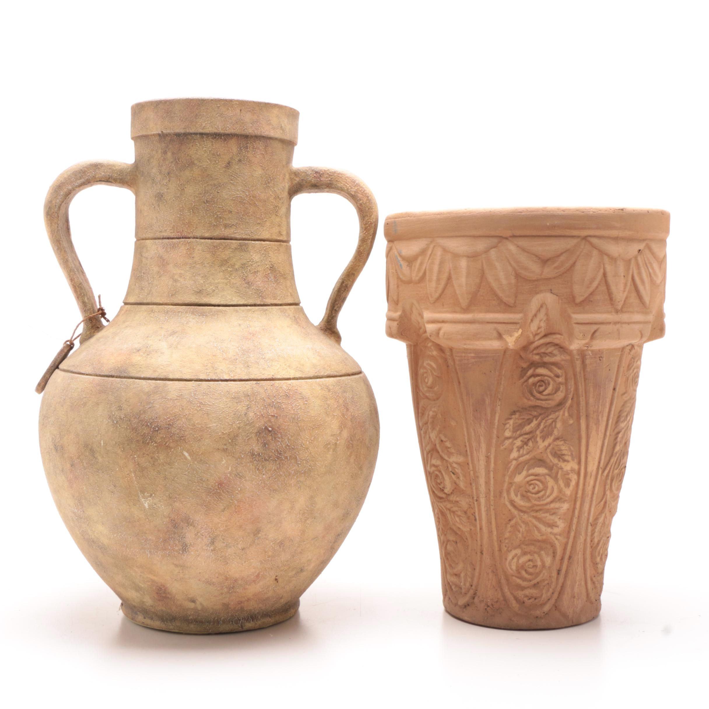 Outdoor Ceramic Planter and Vase