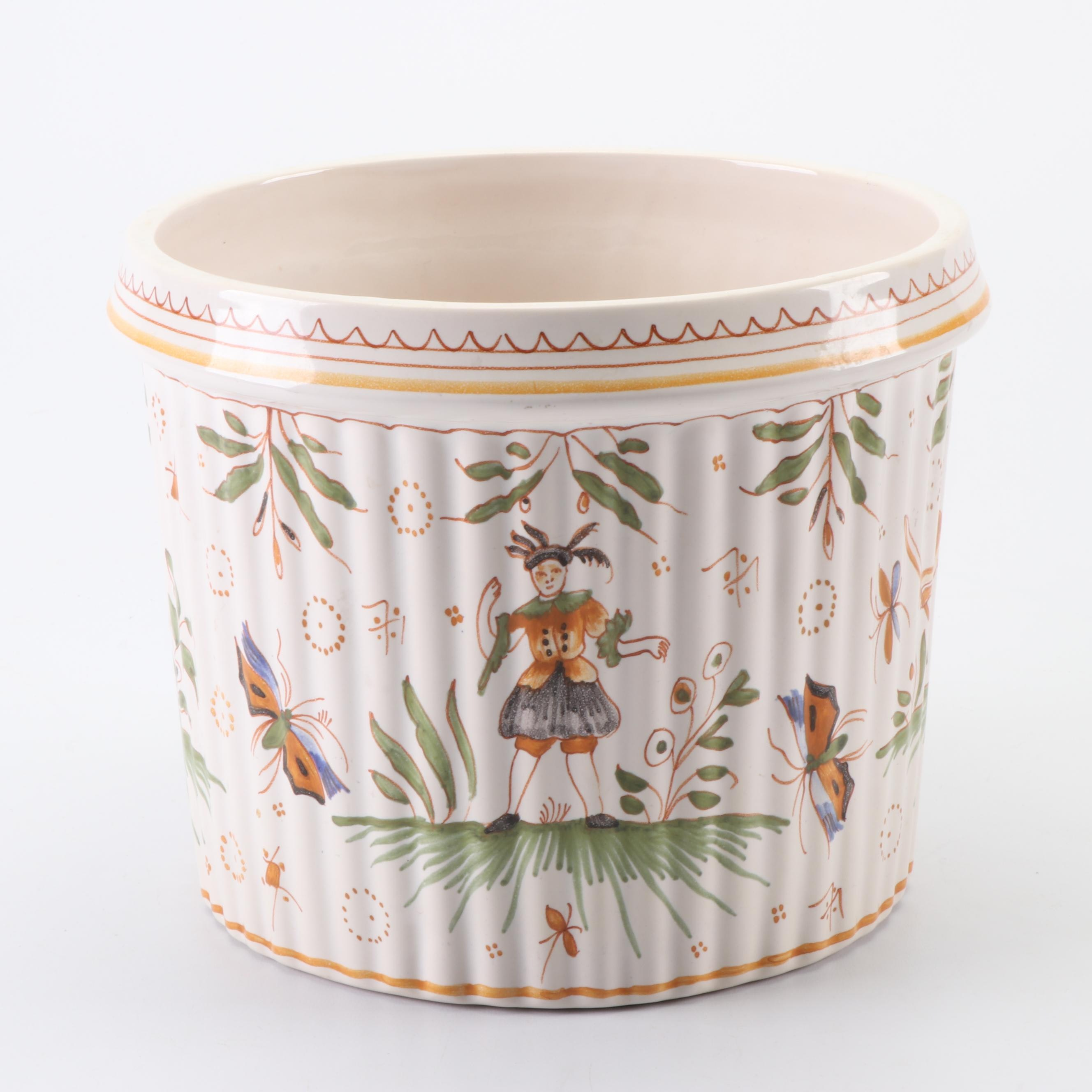 Hand-Painted Tiffany & Co. French Faïence Ceramic Planter