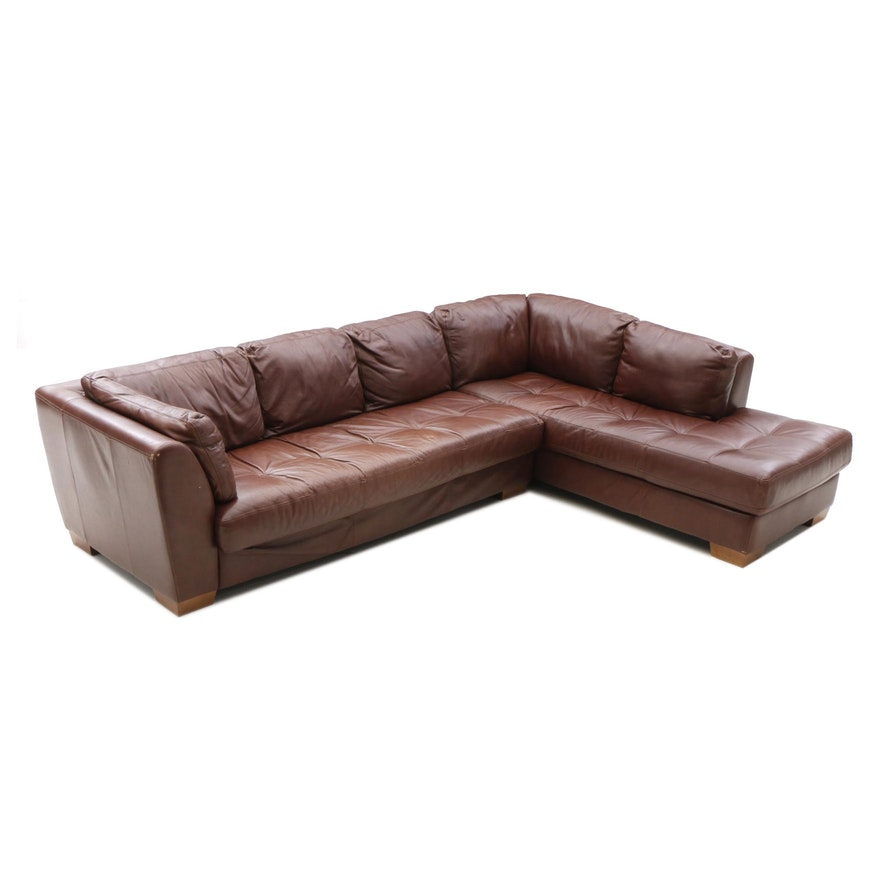 Contemporary Italian Leather Sectional Sofa by Chateau d\' Ax