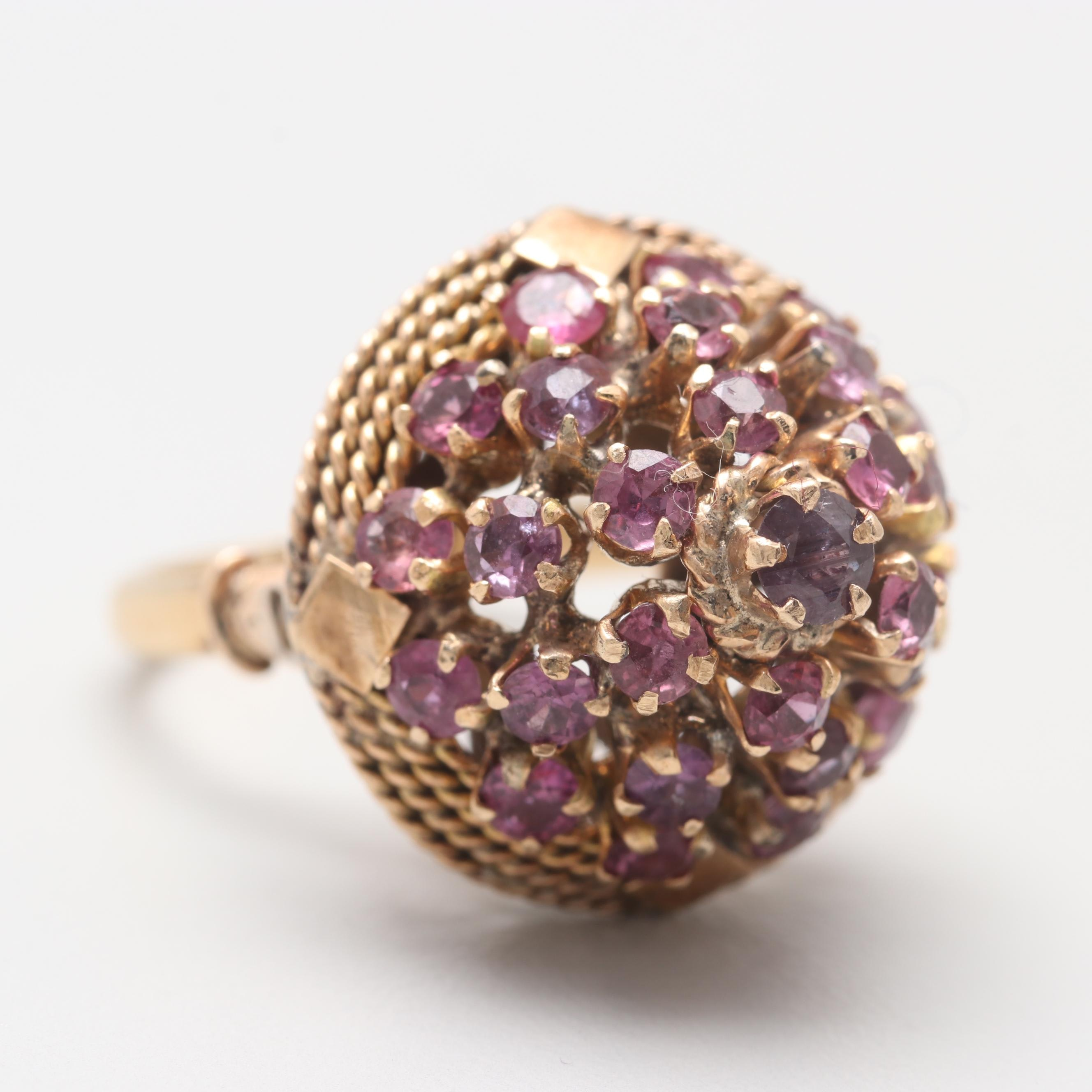 14K and 10K Yellow Gold Ruby Ring