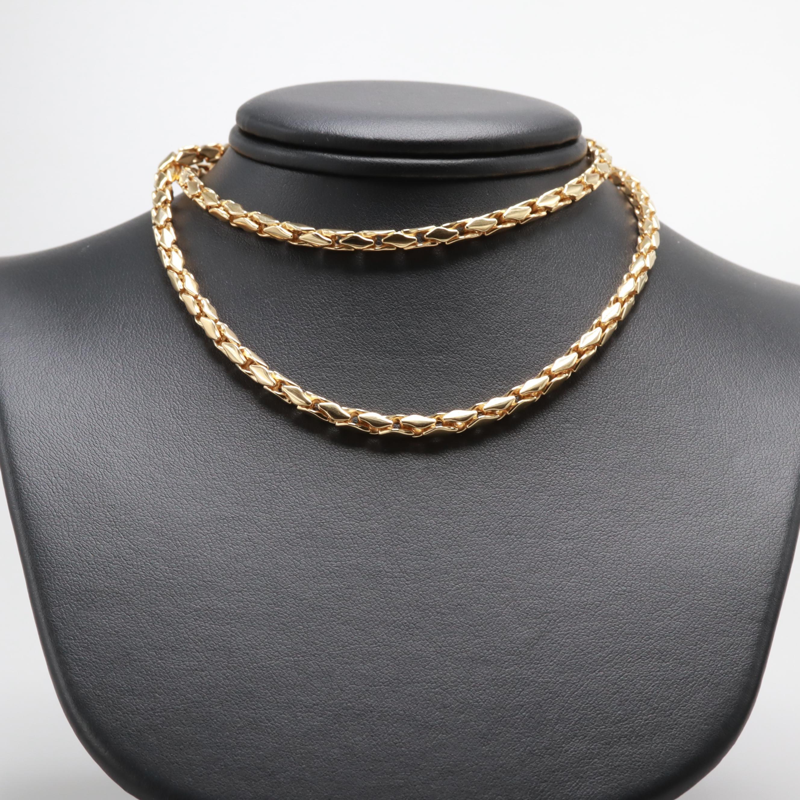 David Yurman 18K Yellow Gold Chain Necklace