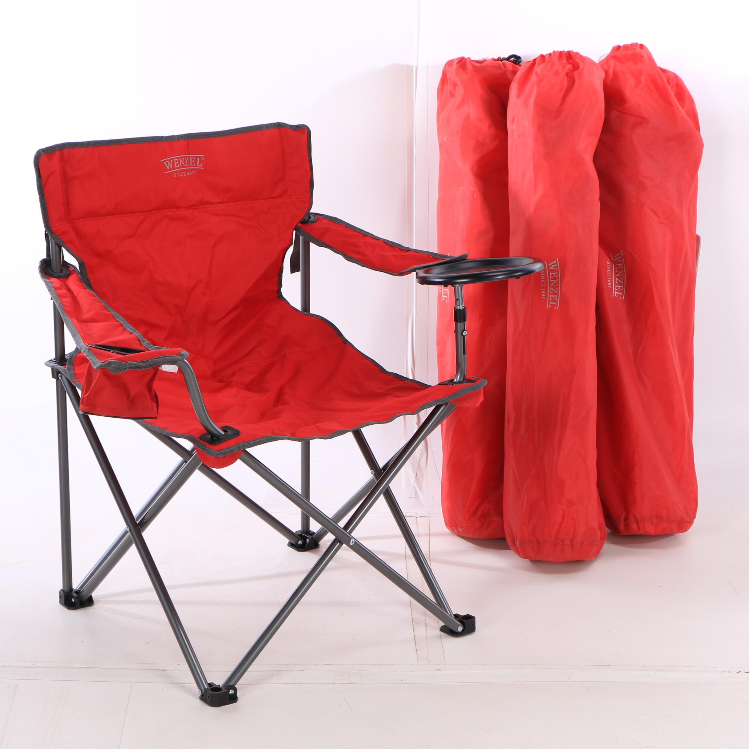 Wenzel Red Outdoor Banquet Chair Set, Extra Large