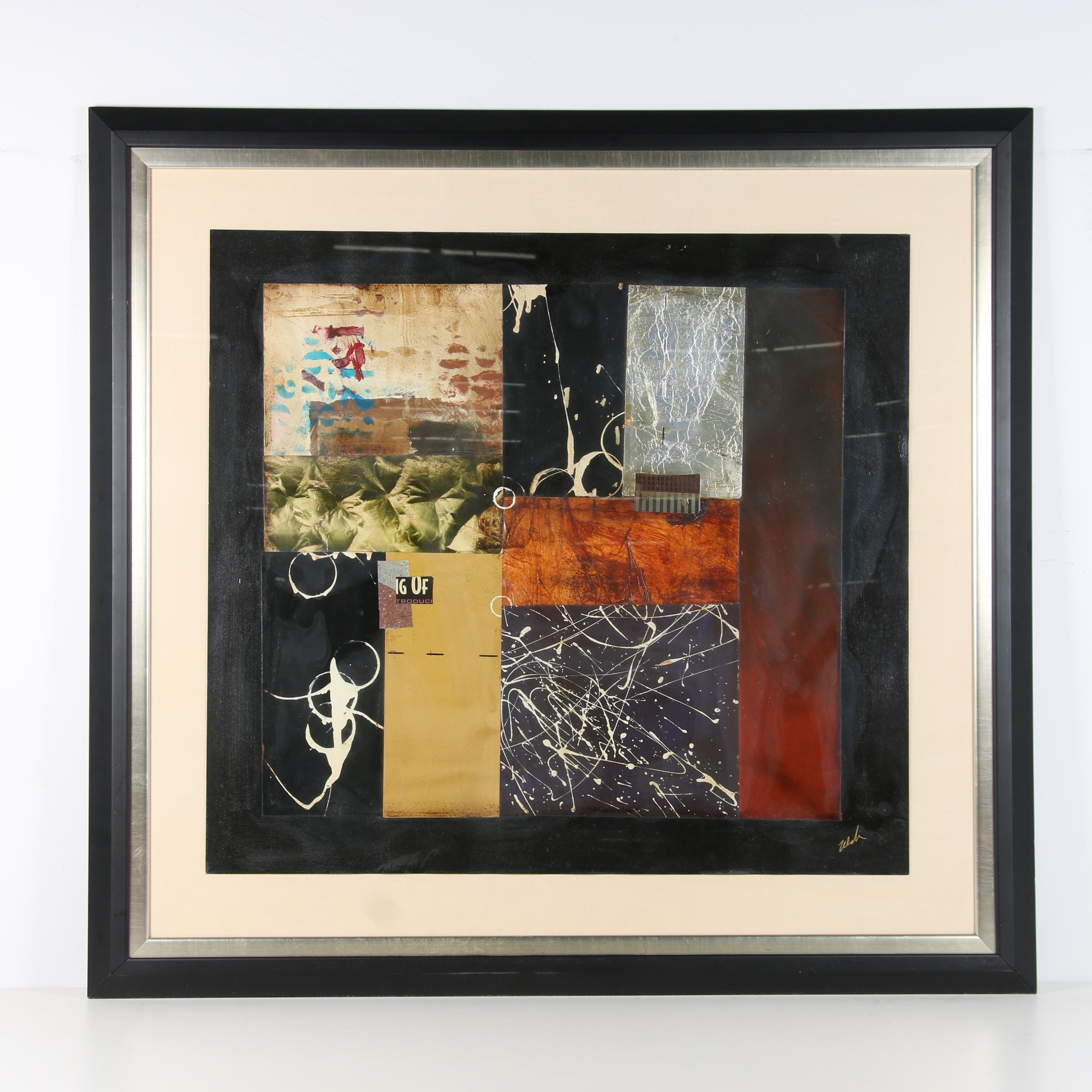 Abstract Mixed Media Composition