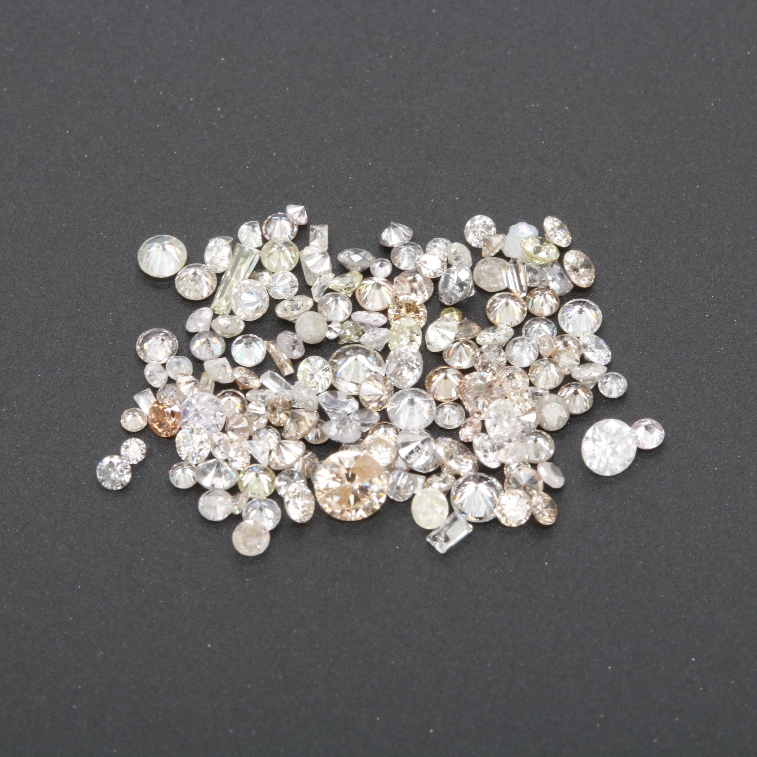 Loose Mixed Cut 4.03 CTW Diamond Assortment