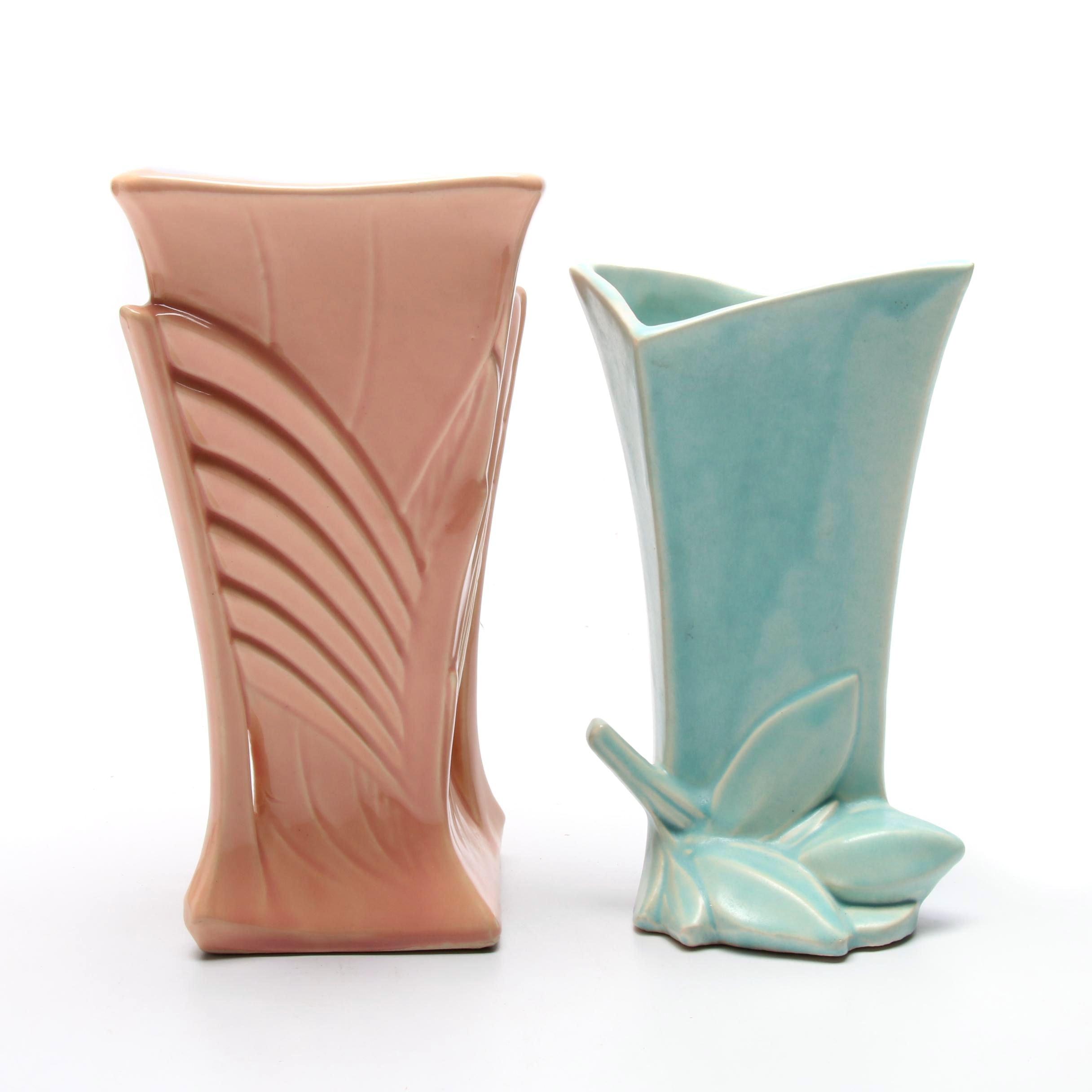 McCoy and Nelson McCoy Earthenware Vases