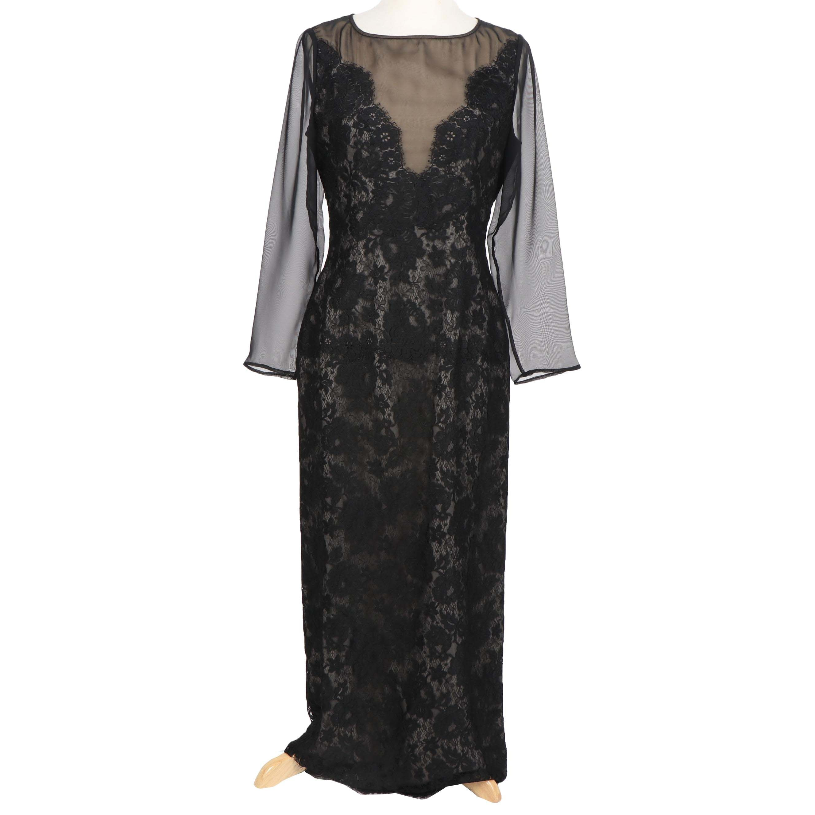 William Pearson Black Lace Cocktail Dress
