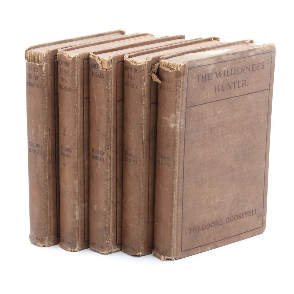 Antique Theodore Roosevelt Five Volume Set