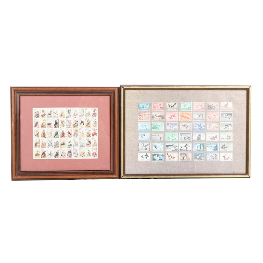 Framed USA Wildlife Stamps and Migratory Bird Hunting Stamp Offset ...