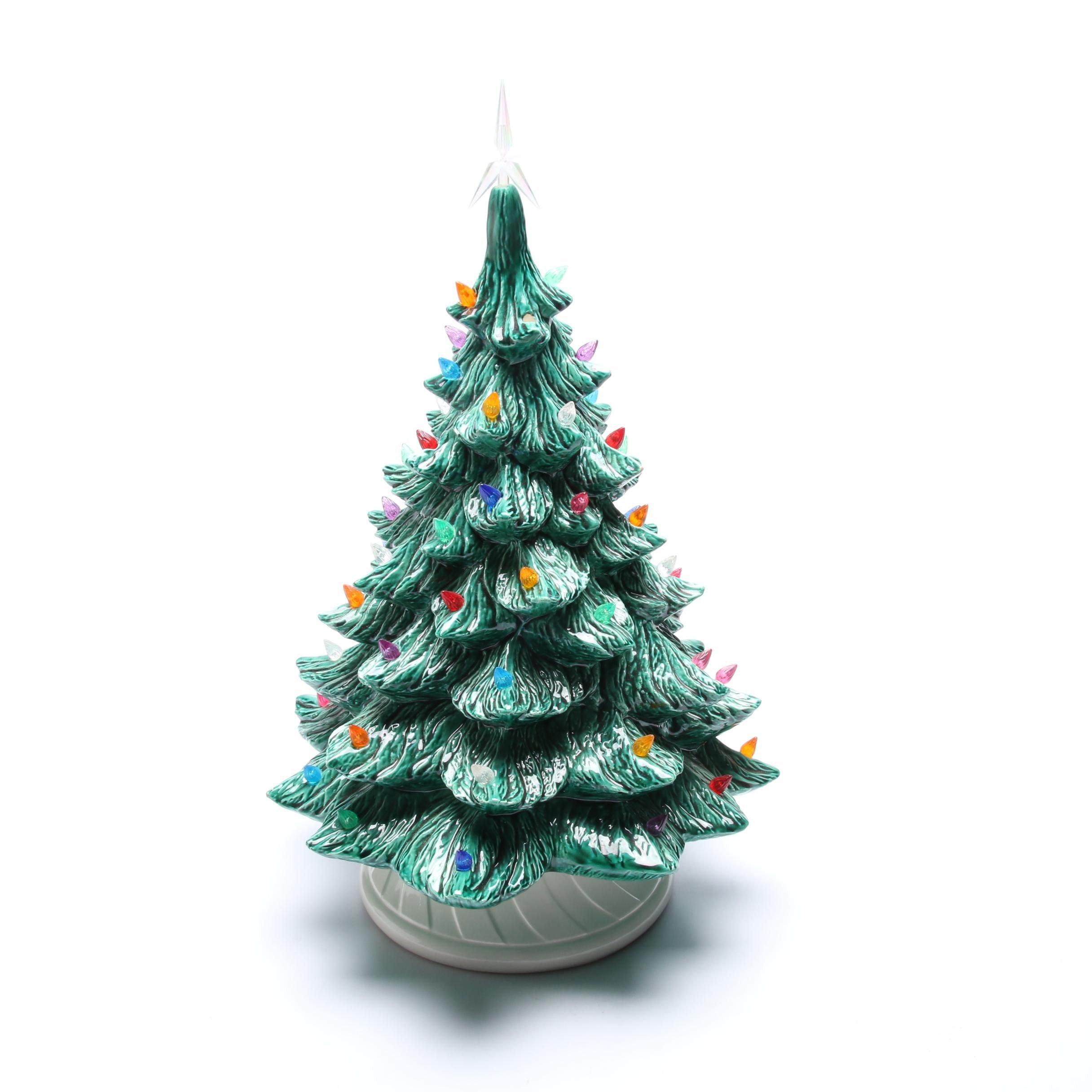 Ceramic Christmas Tree Lamp