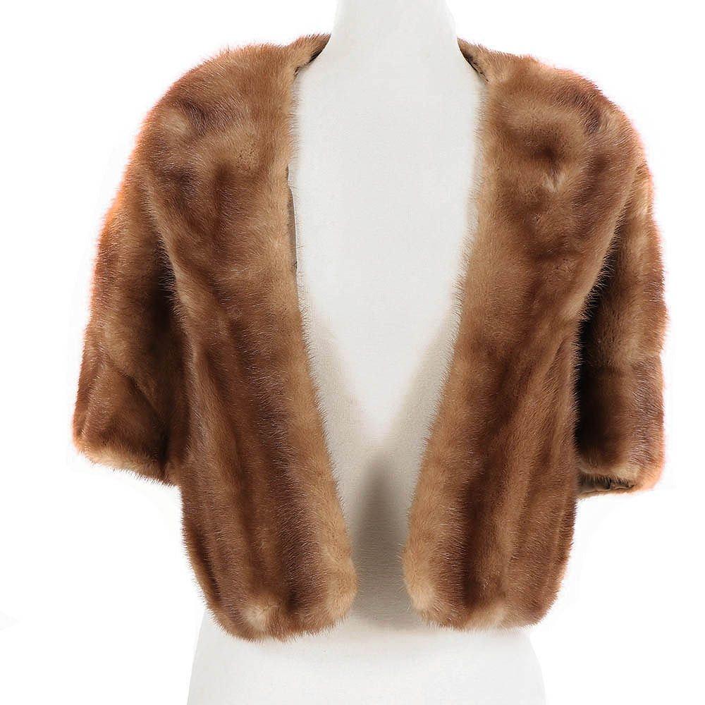 Vintage Furs by Spritzer Bros. Pastel Mink Fur Shrug