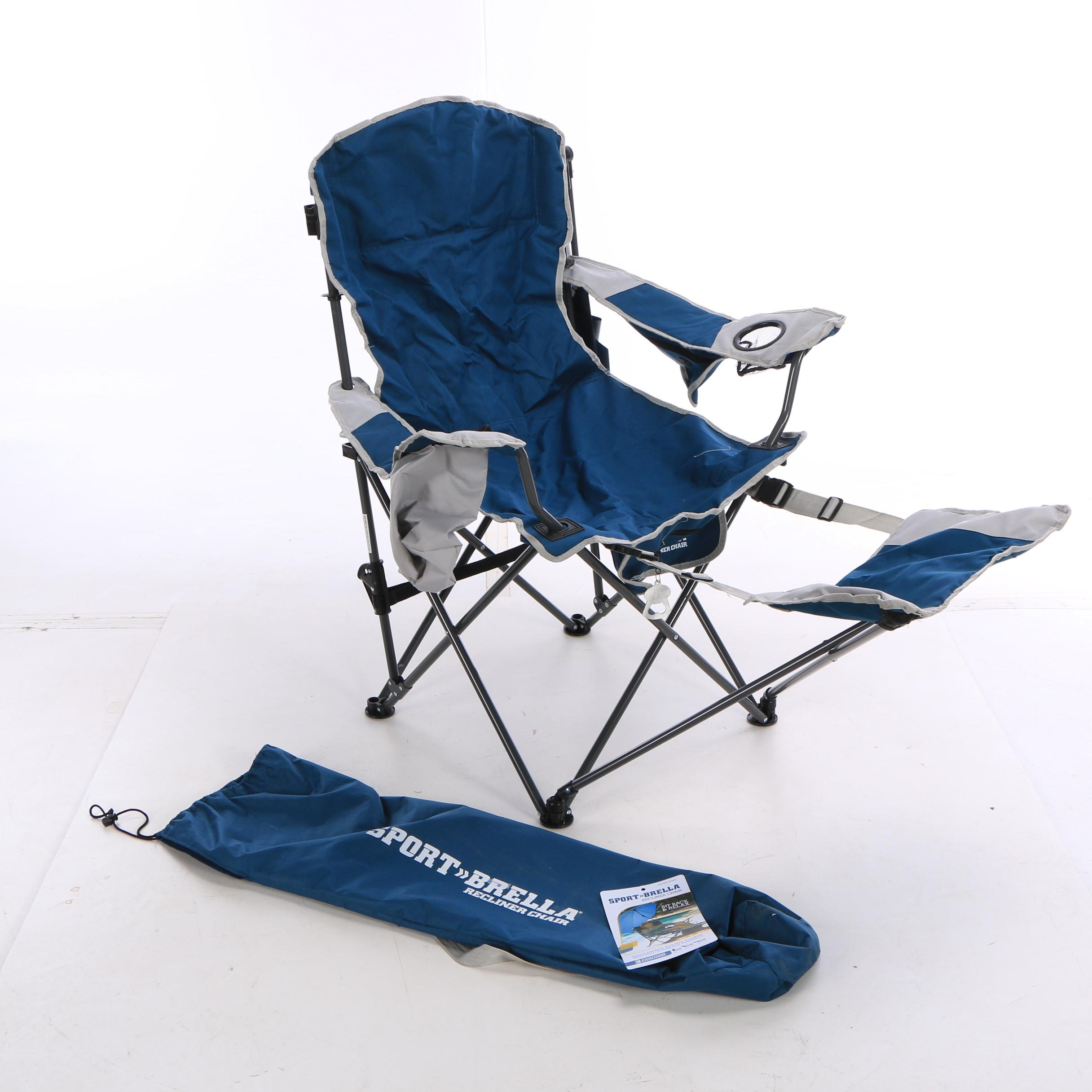 Sport-Brella Recliner Chair with Full Canopy Umbrella