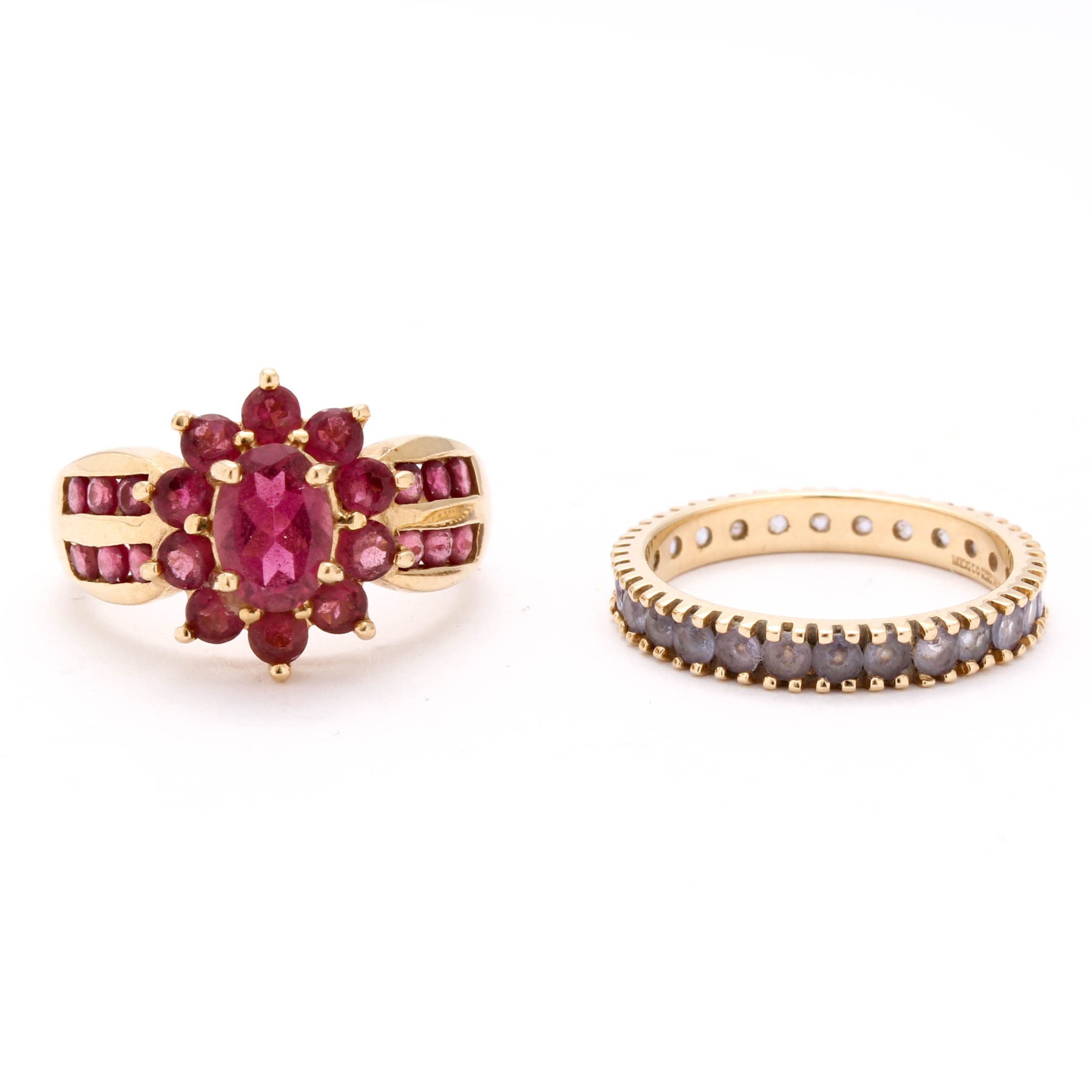 14K Yellow Gold Gemstone Rings