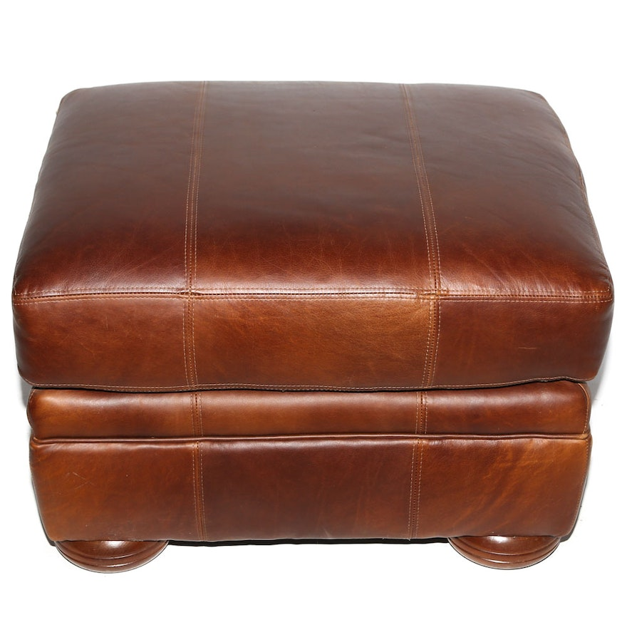 Groovy Craftwork Leather Upholstered Ottoman By Vanguard Furniture Ibusinesslaw Wood Chair Design Ideas Ibusinesslaworg