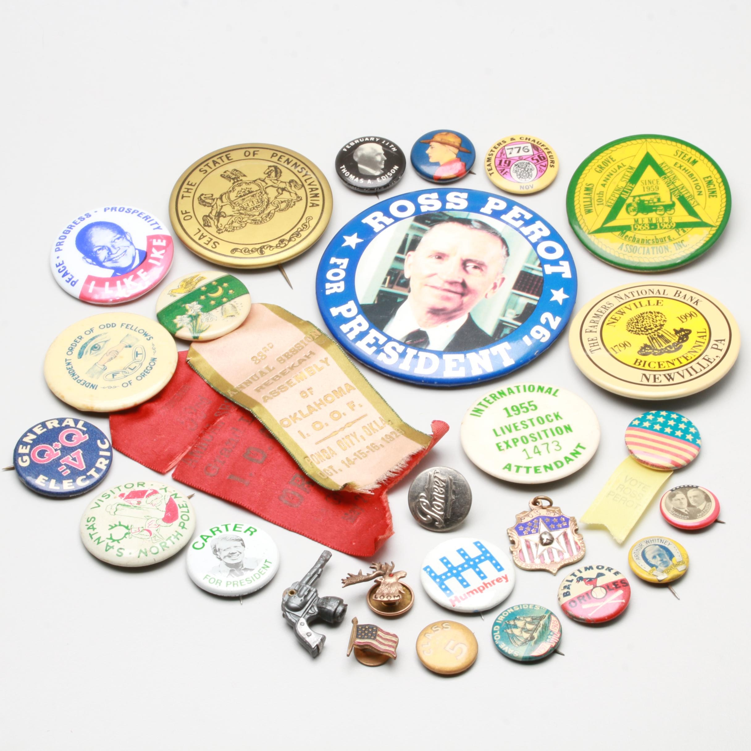 Vintage Political Buttons and Costume Pinbacks