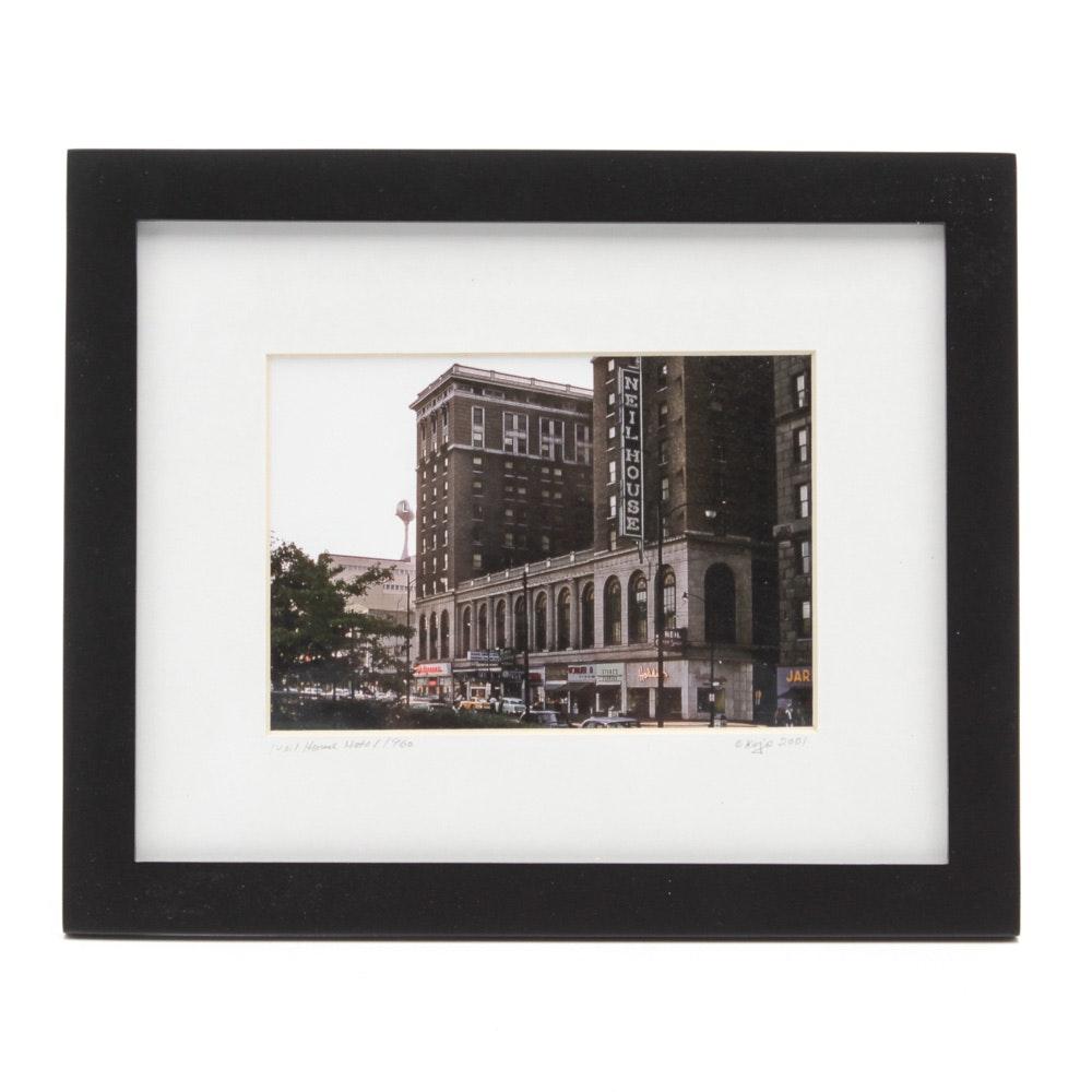 Kojo Kamau Vintage Photograph of Historic Columbus, Ohio Neil House Hotel