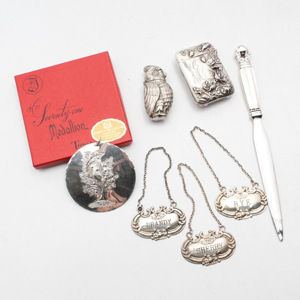 Sterling Silver Accessories Featuring Georg Jensen Letter Opener