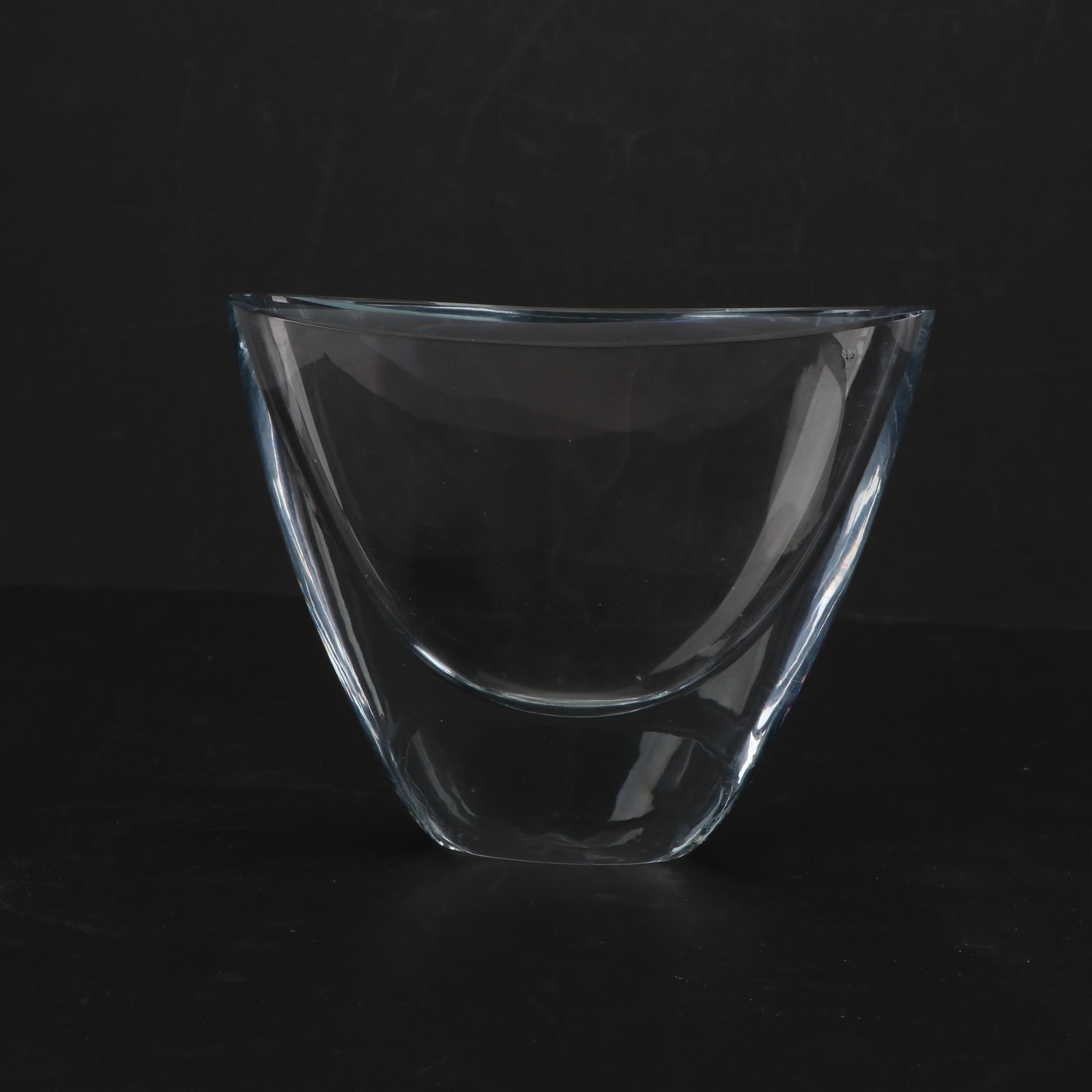 Strombergshyttan Weighted Glass Bowl Vase