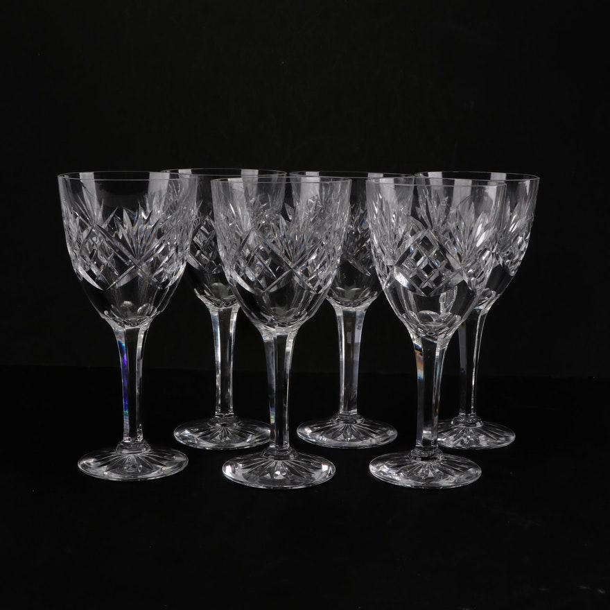 Cut Crystal Wine Glasses Ebth
