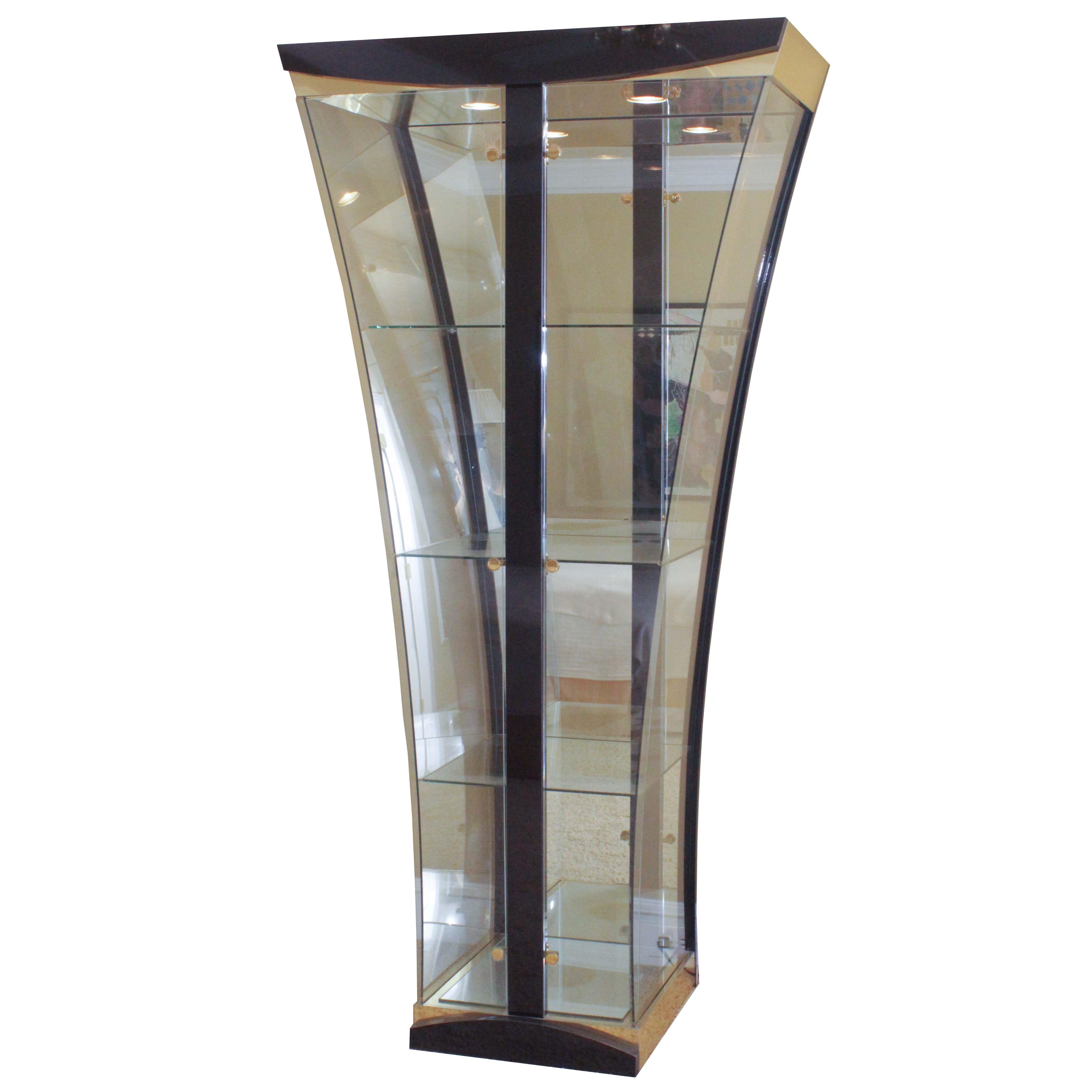 Illuminated Glass Display Cabinet