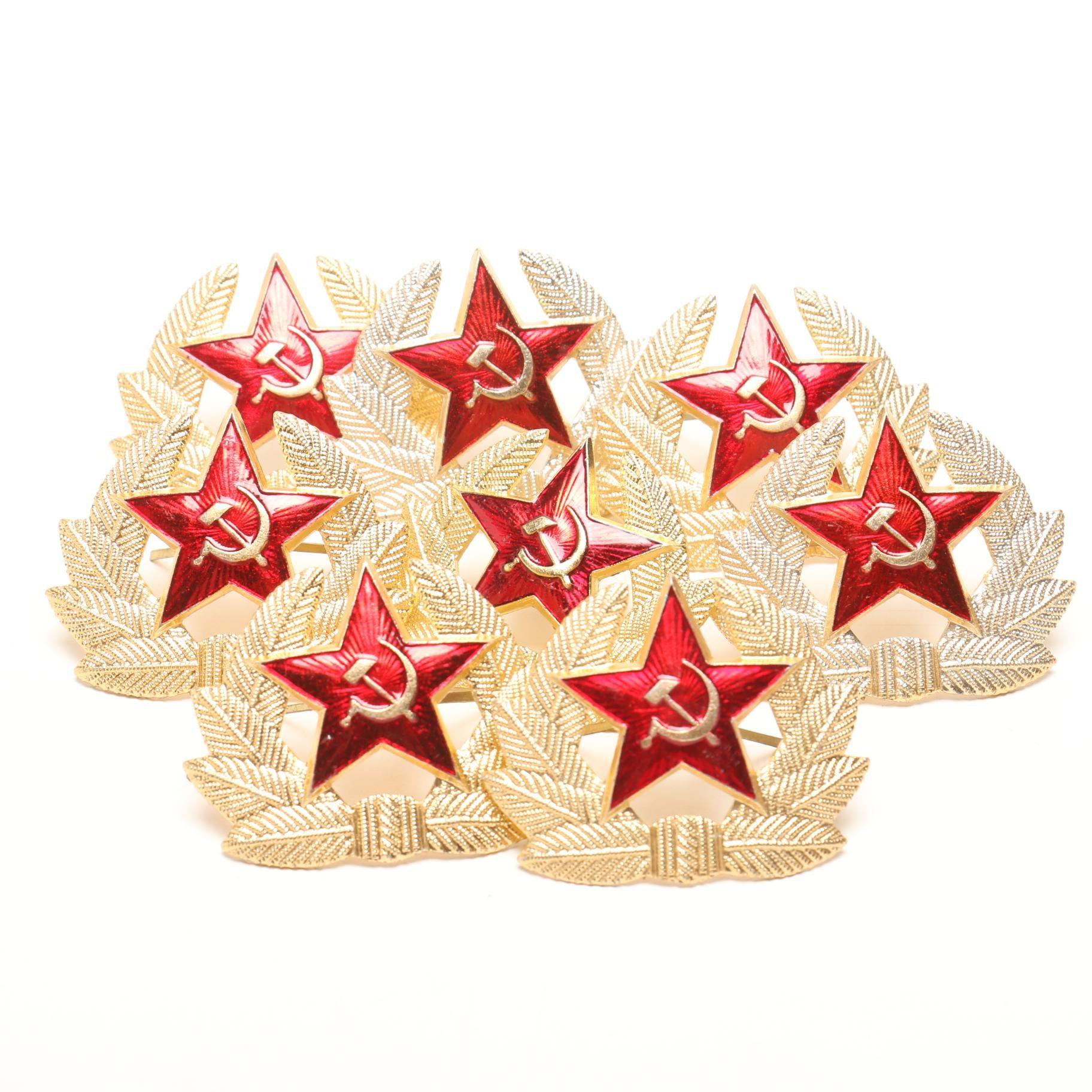 Eight Soviet Union Military Pins