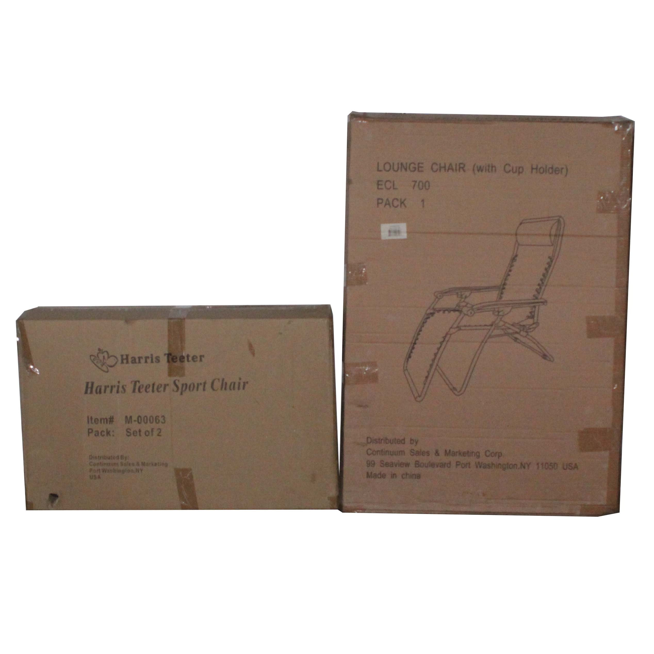 Folding Lounge and Sport Chairs