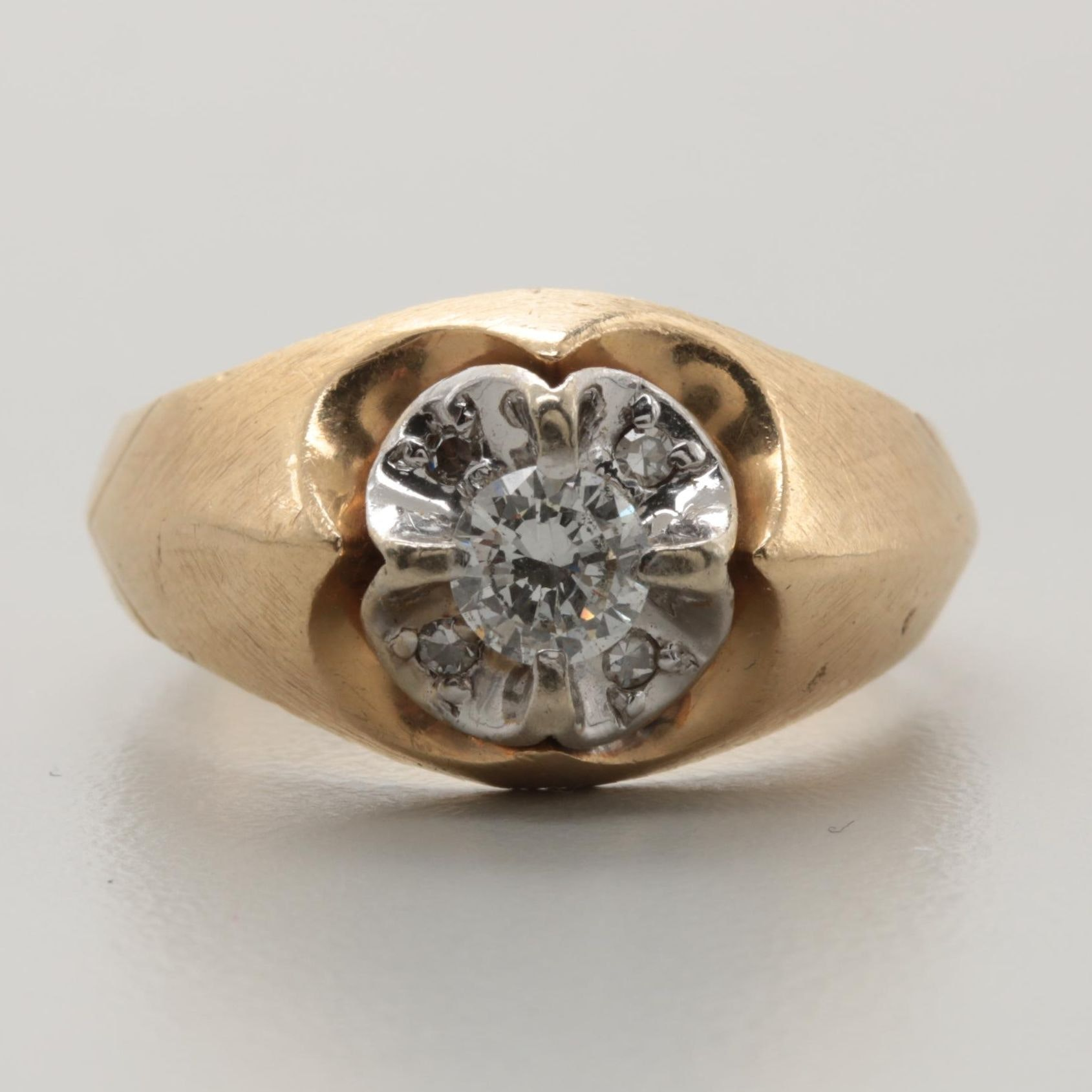 Frederick Goldman 14K Yellow Gold Diamond Ring