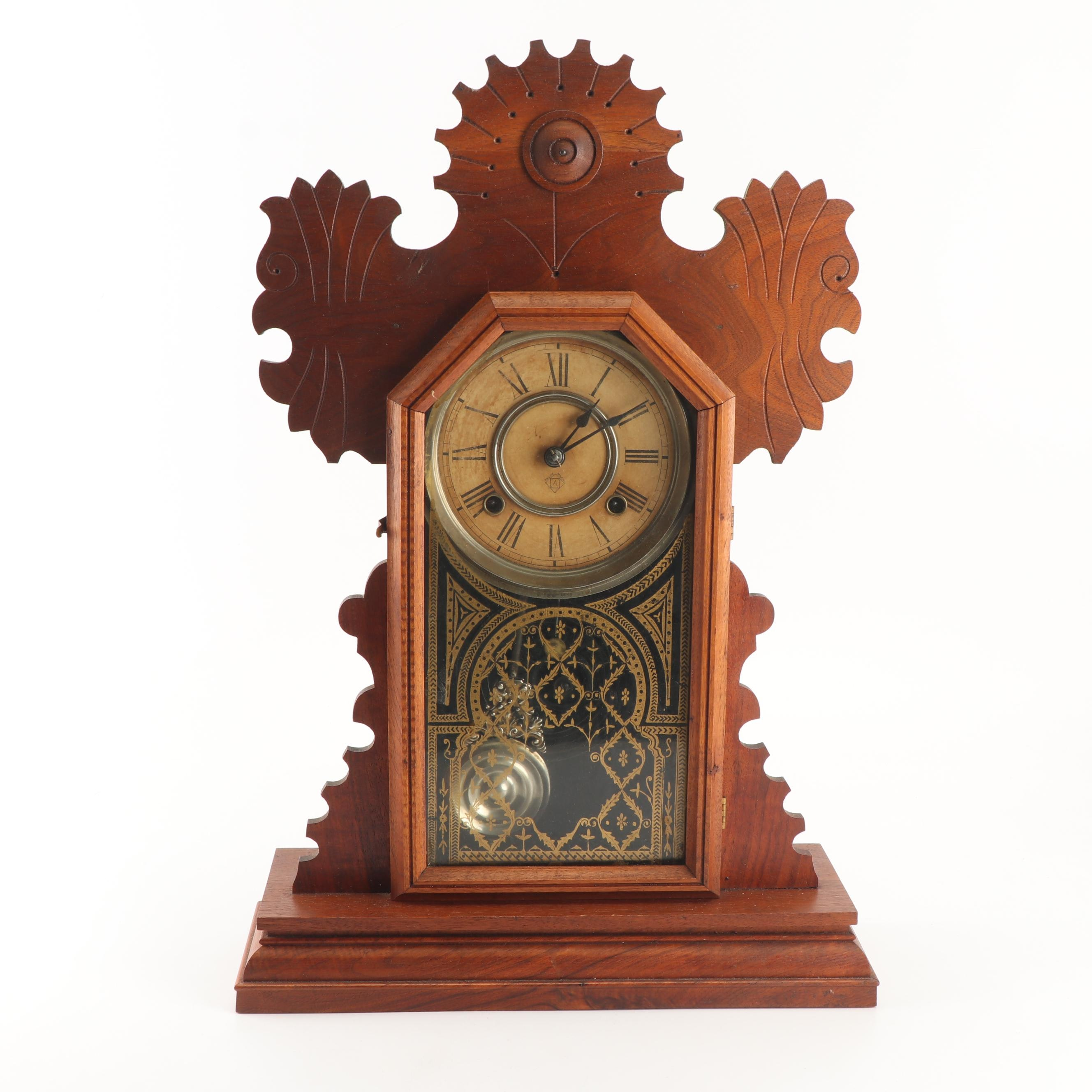 Ansonia Gingerbread Kitchen Clock, Early 20th Century