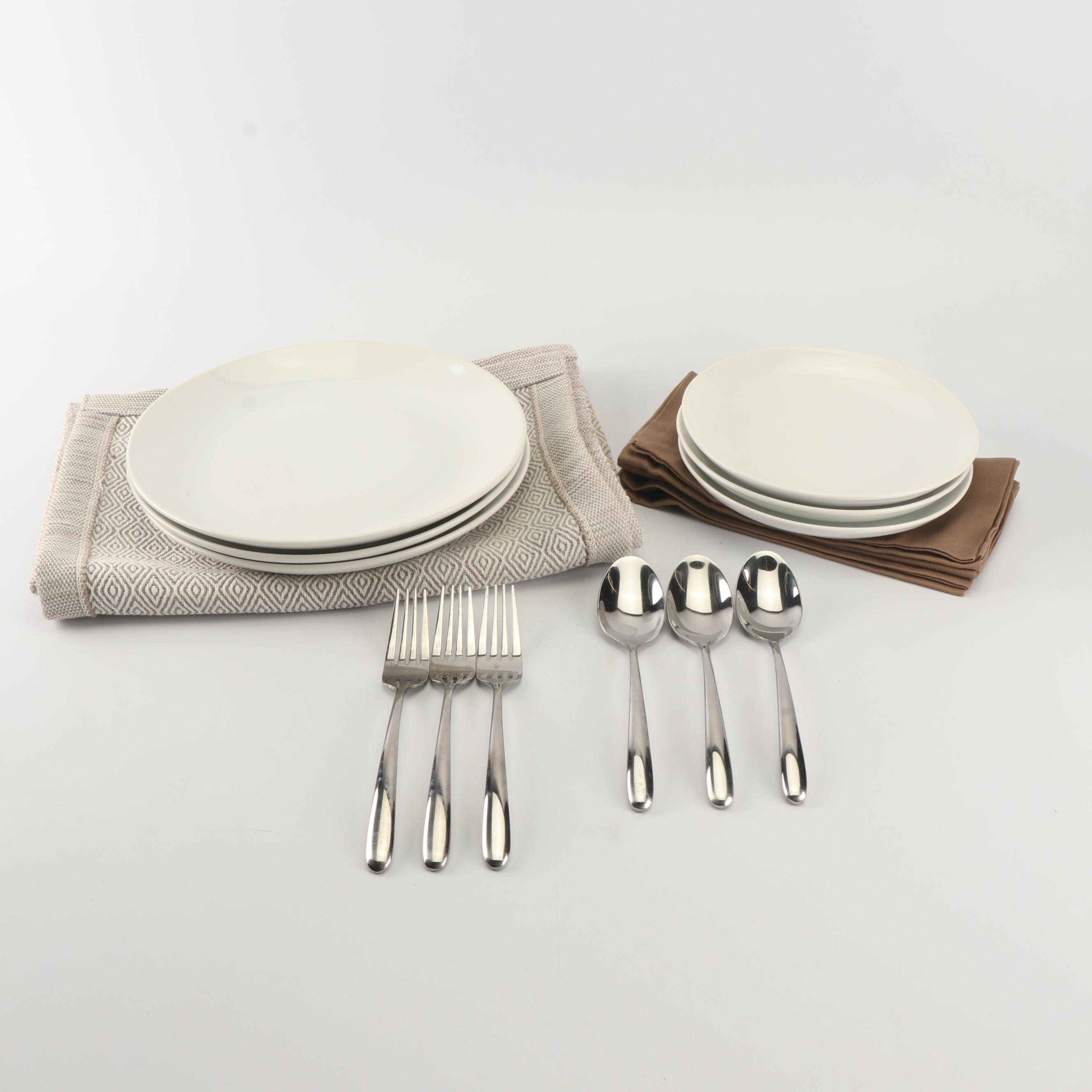 Threshold Dinnerware with Placemats, Napkins and Flatware