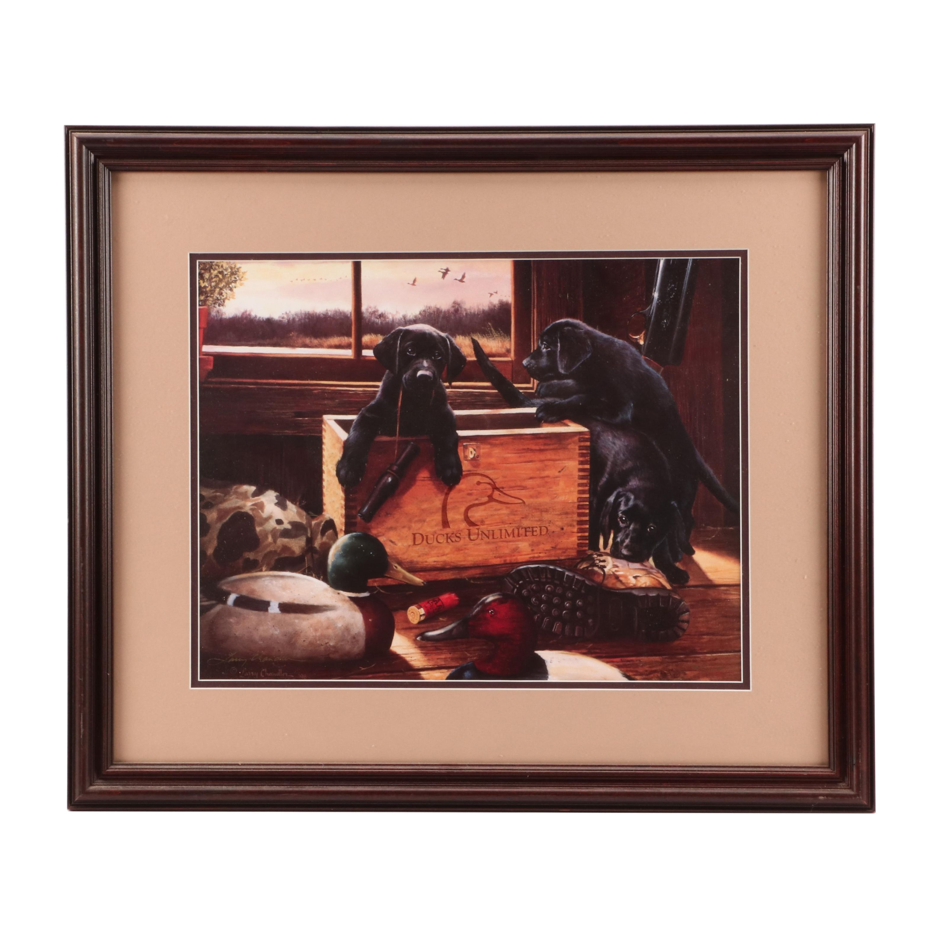 Larry Chandler Limited Edition Ducks Unlimited Offset Lithograph