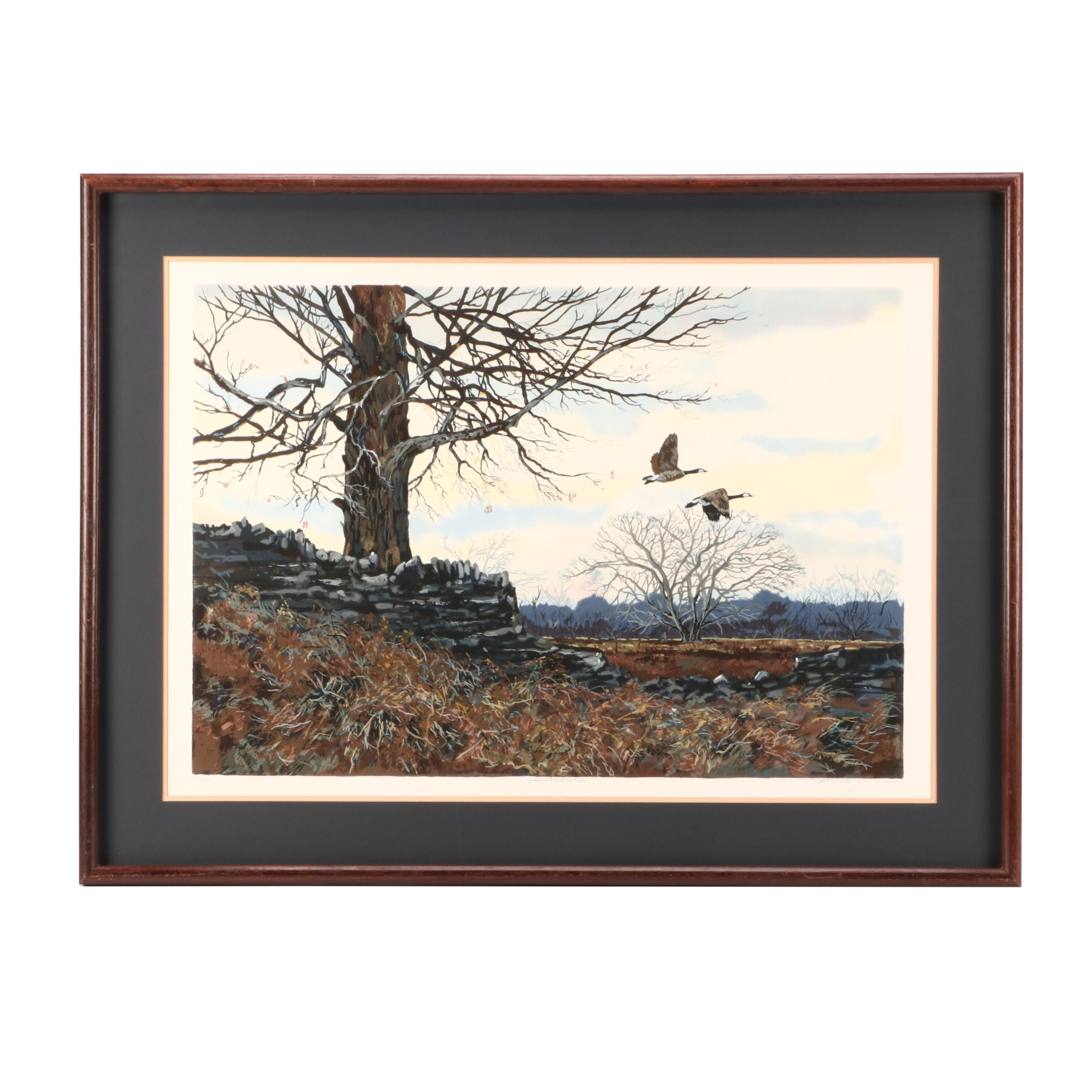 "Schofield Limited Edition Serigraph Wildlife Print ""Southward"""