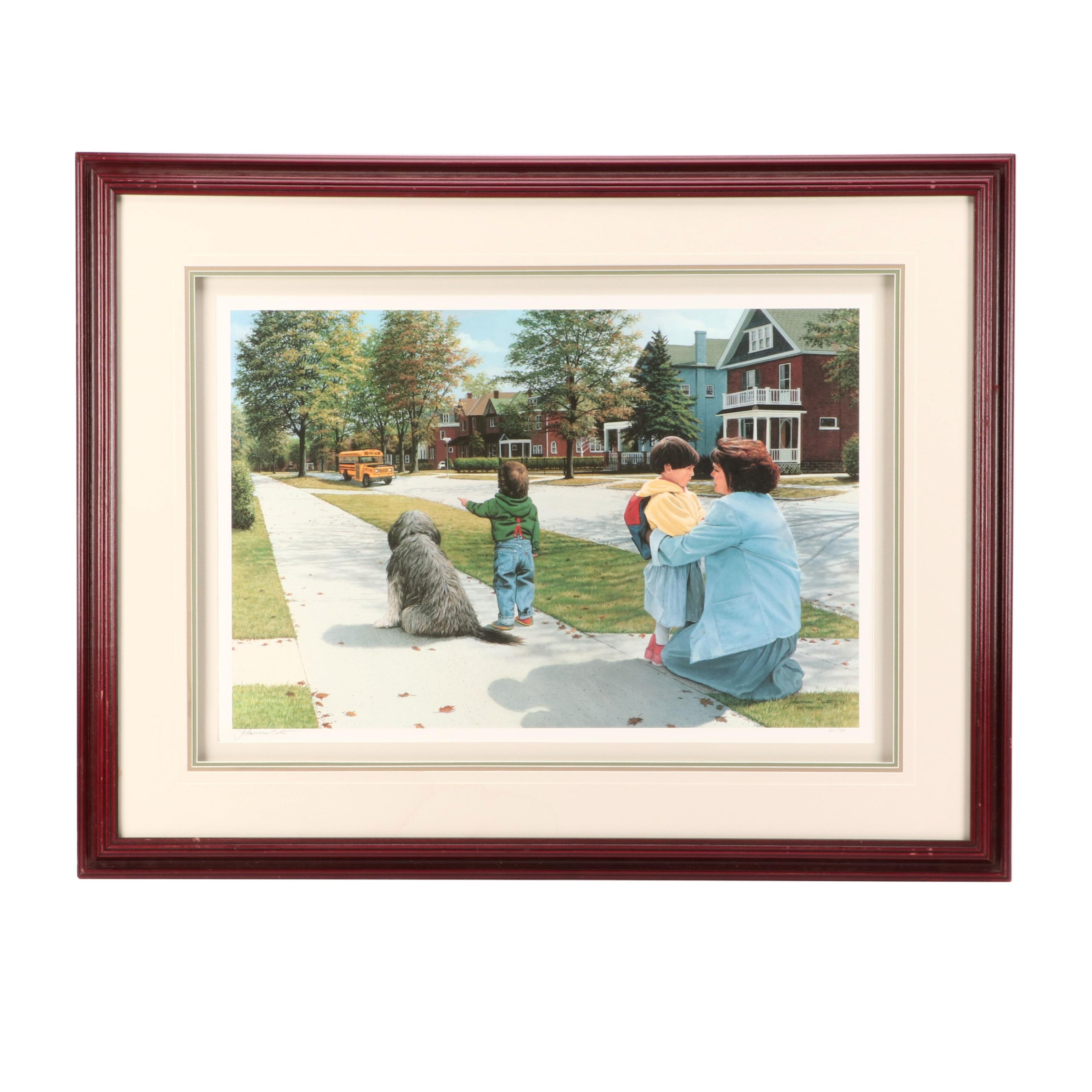 """Johannus Boots Limited Edition Offset Lithograph """"The First Day"""""""