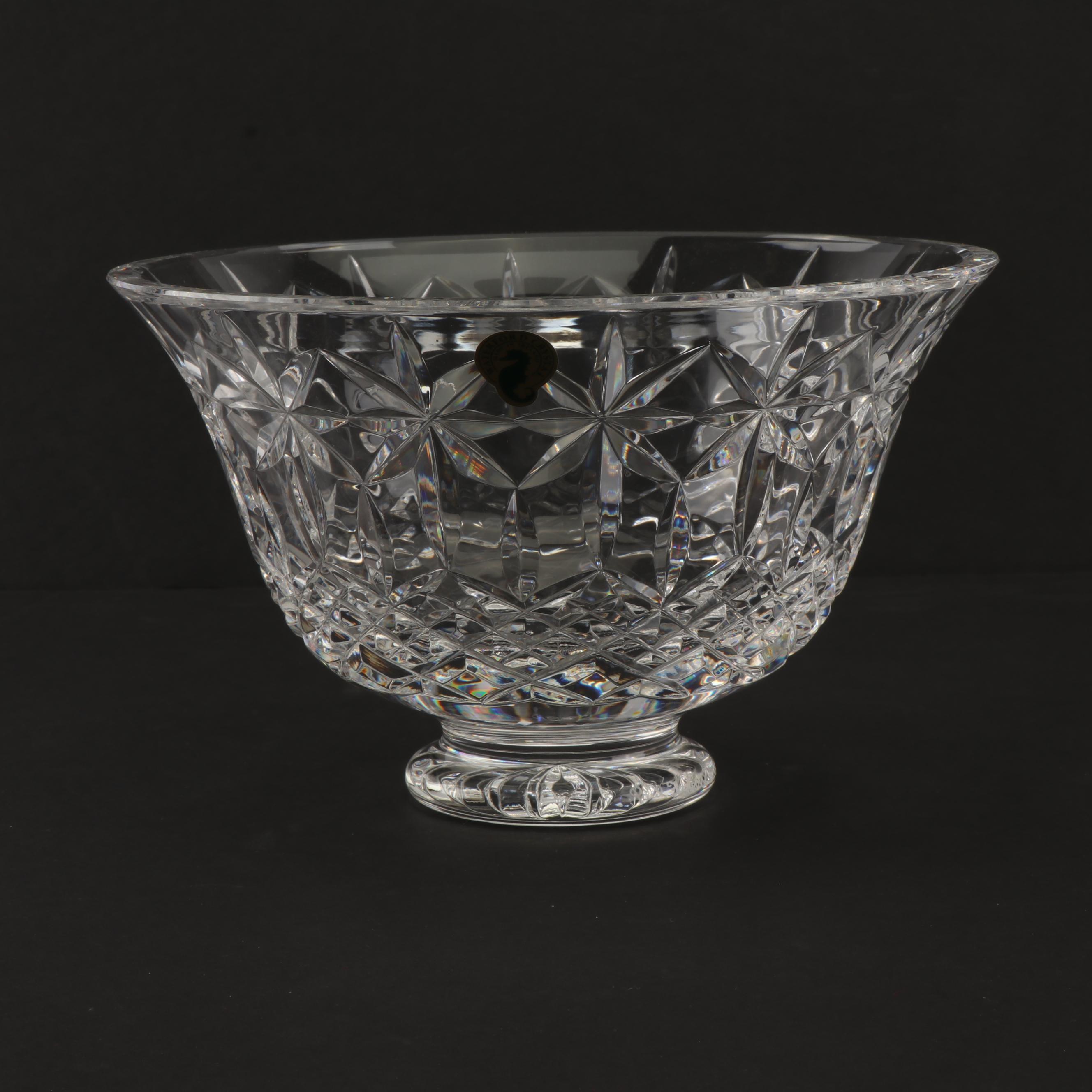 "Waterford Crystal ""Balmoral"" Footed Bowl"