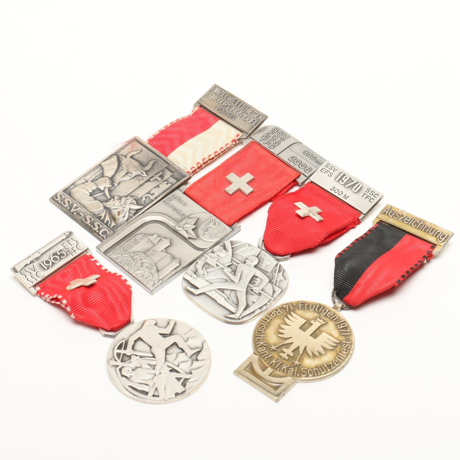 1960s-1970s Swiss Participation Presentation Medals