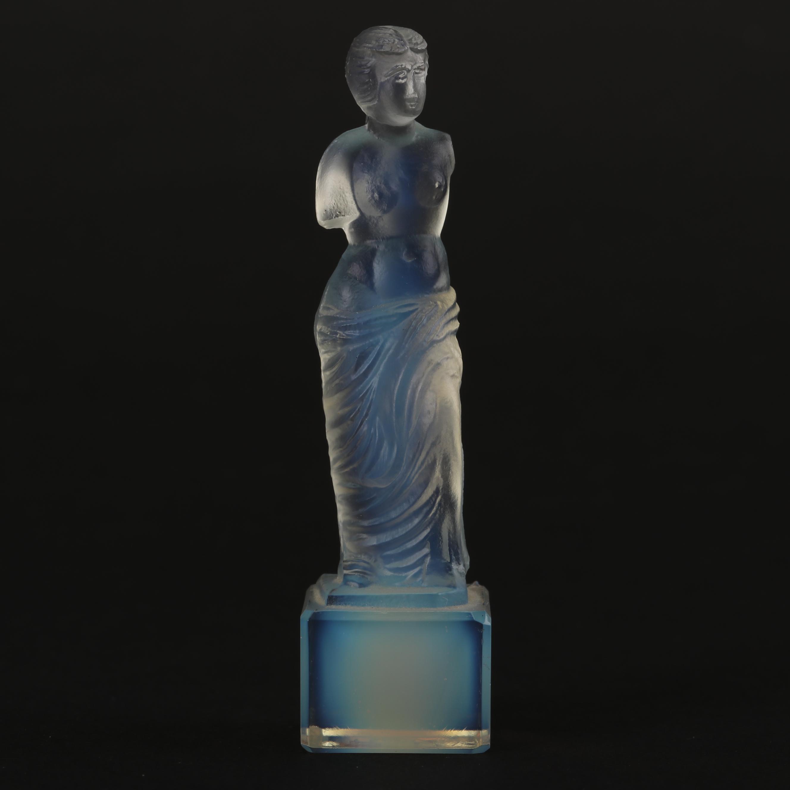 """French Sabino  """"Venus de Milo"""" Opalescent Glass Figurine"""
