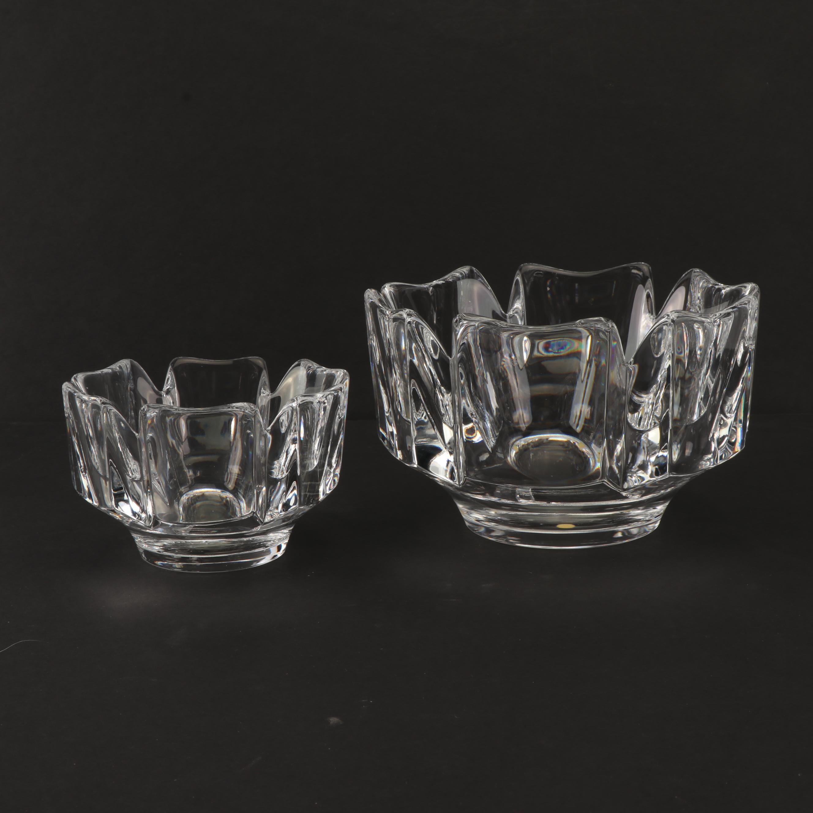 "Orrefors ""Corona"" Crystal Bowls"