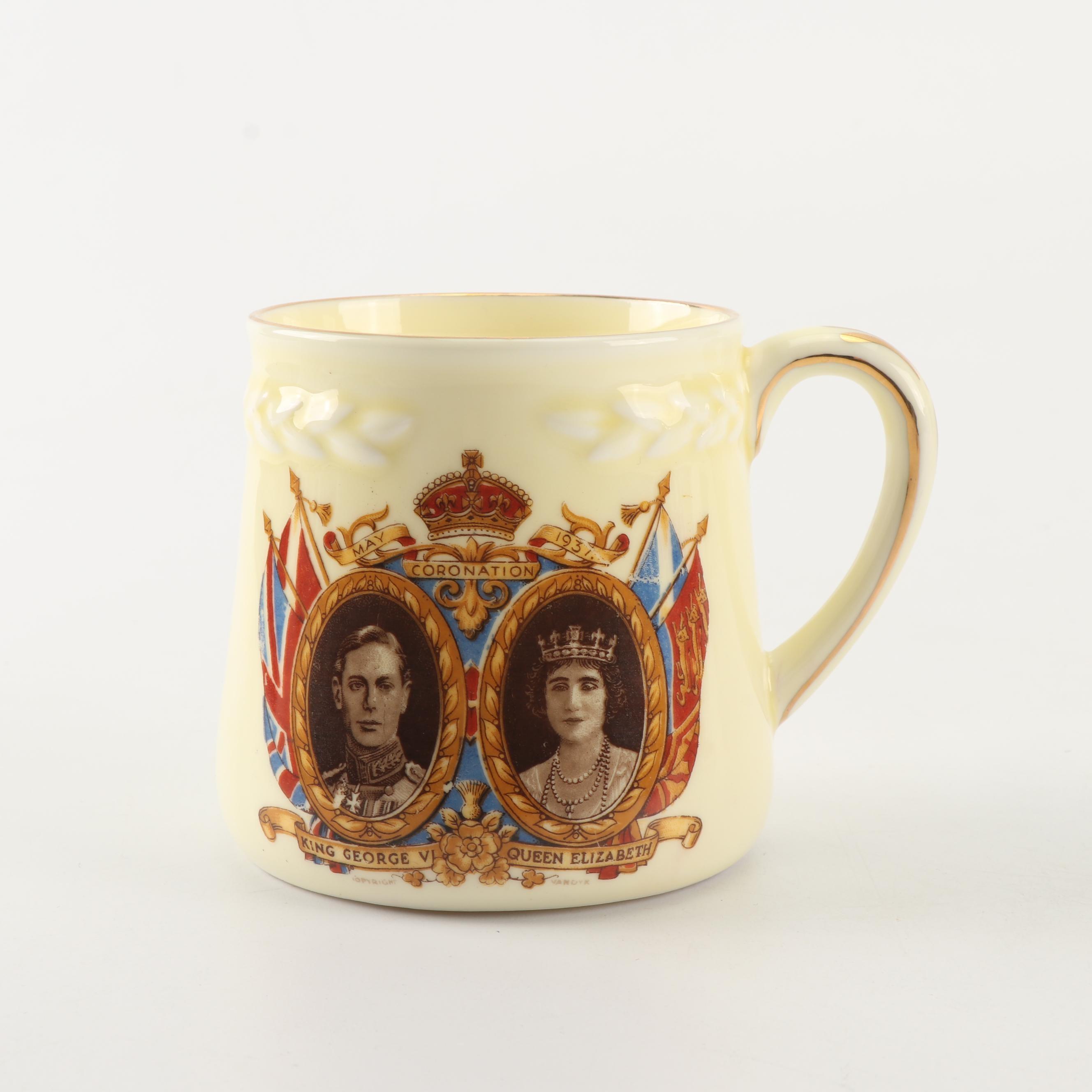 King George VI and Queen Elizabeth Coronation Commemorative Mug, 1937